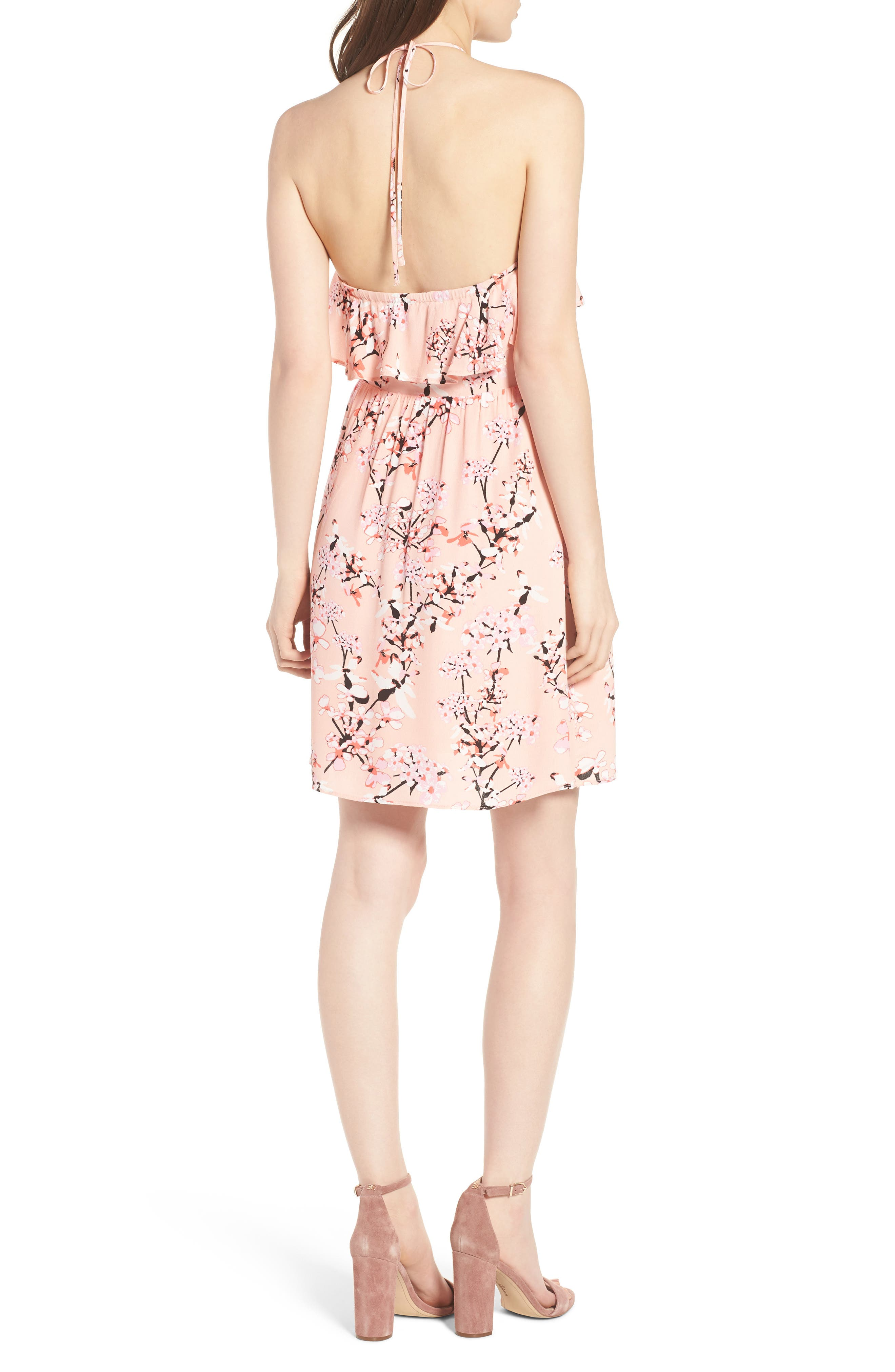 Alternate Image 2  - cupcakes and cashmere Corralyn Floral Print Halter Dress