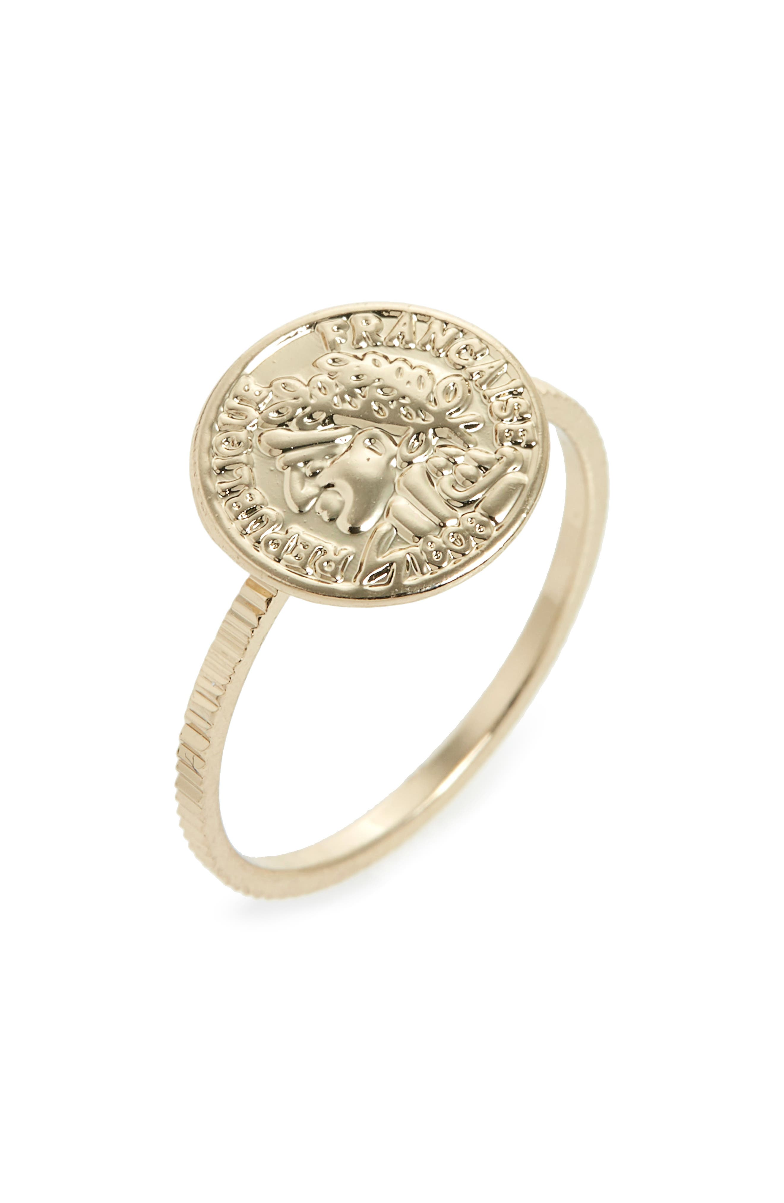 Topshop Coin Pinky Ring