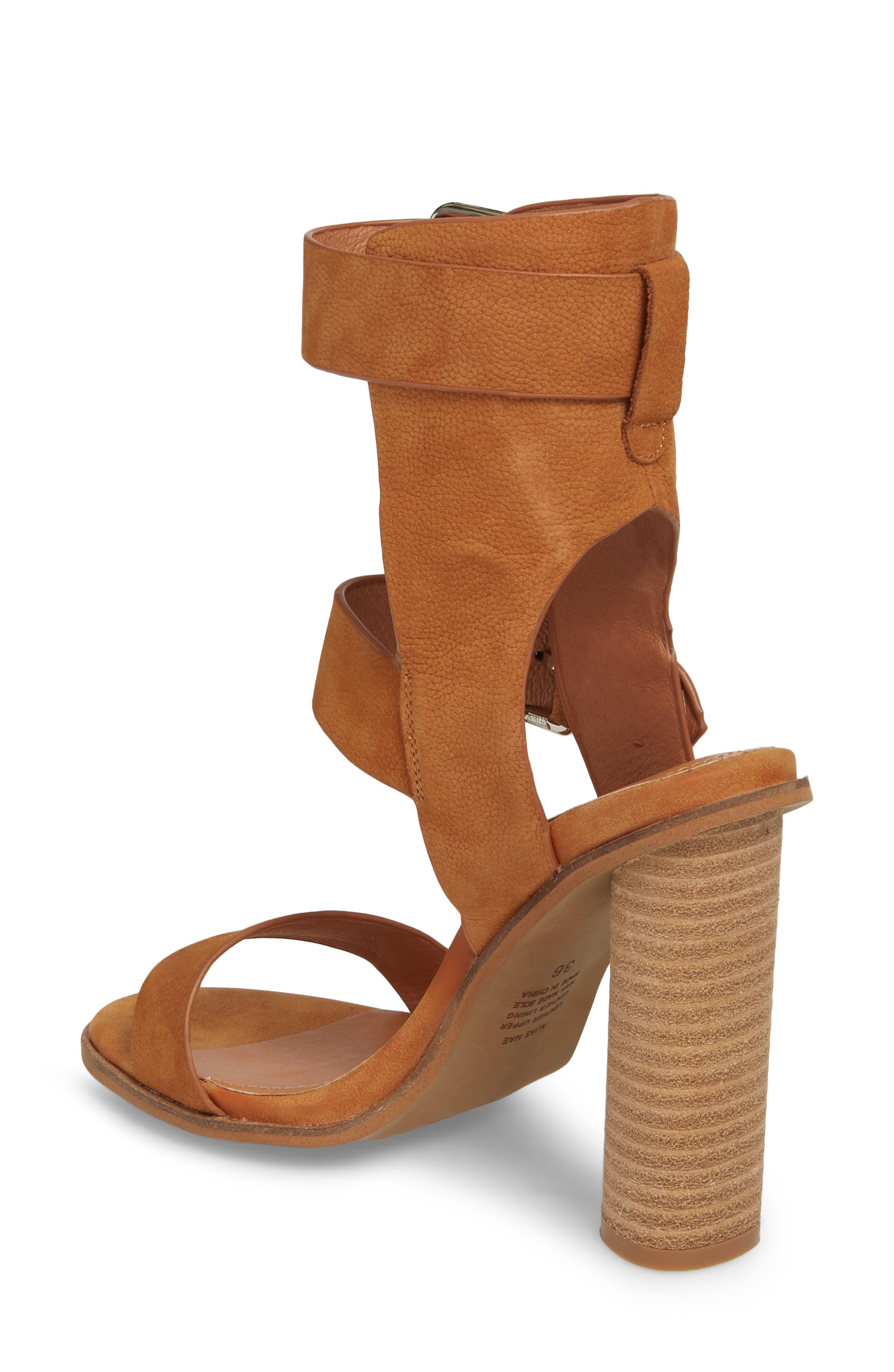 Abeba Block Heel Sandal,                             Alternate thumbnail 2, color,                             Tan Leather