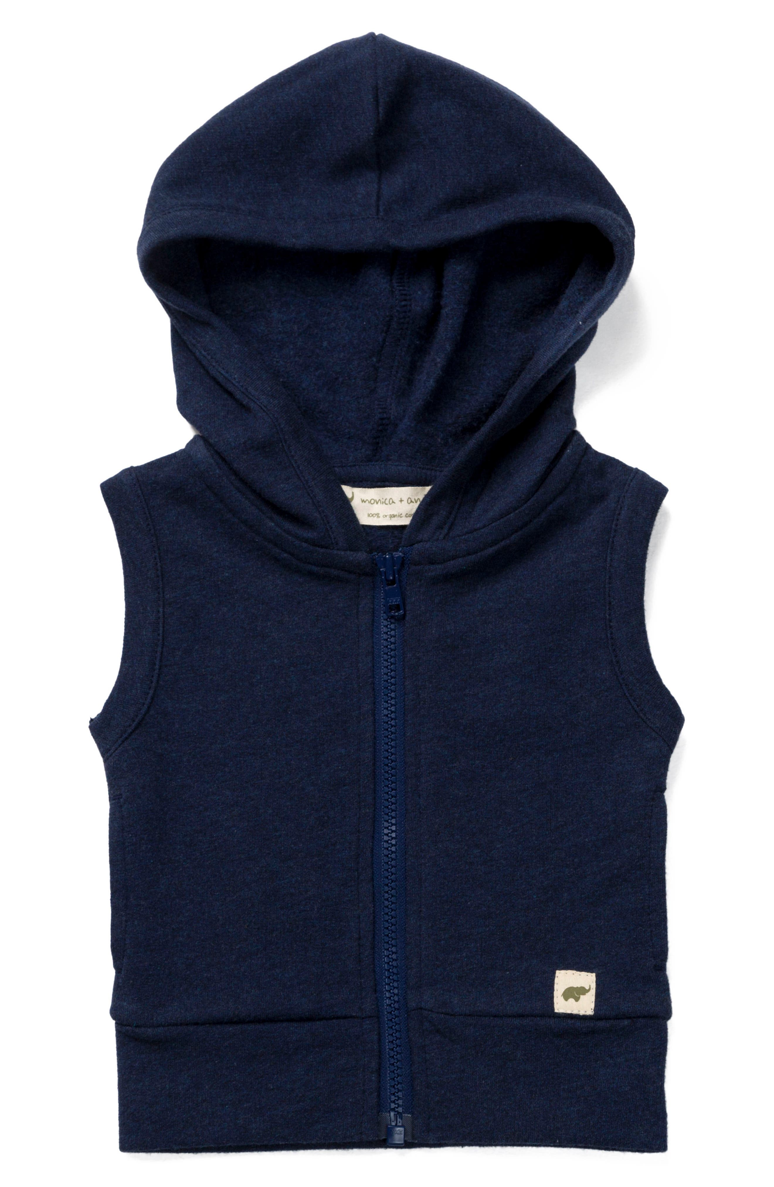 Monica + Andy Organic Cotton Sleeveless Hoodie (Toddler Boys)
