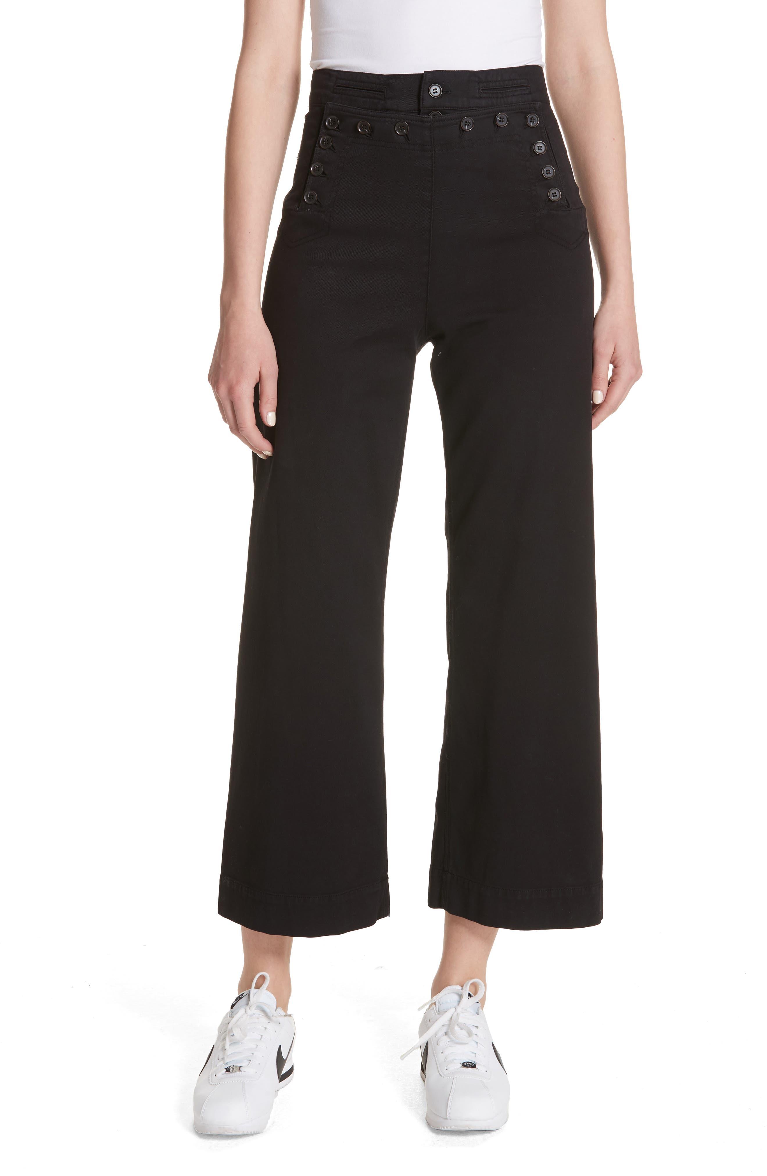 Pierce Crop Pants,                             Main thumbnail 1, color,                             Black