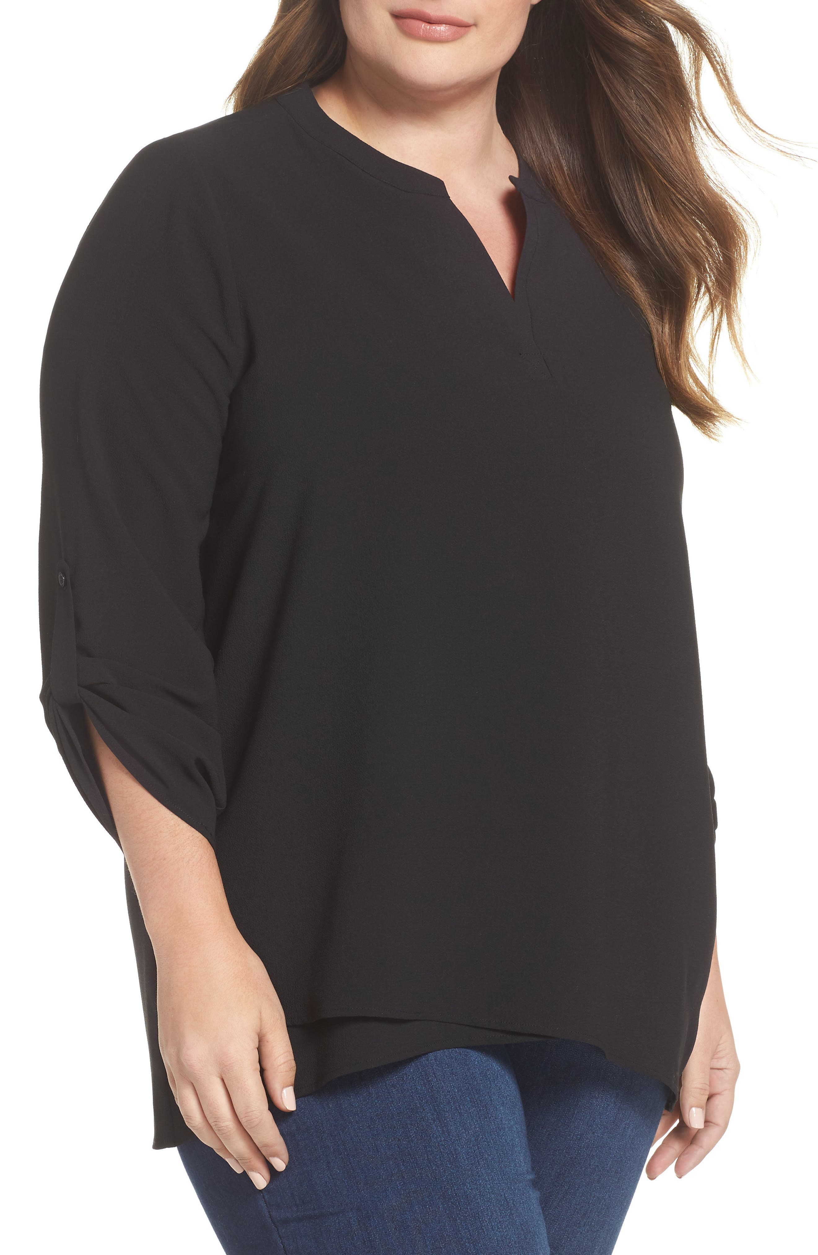 Gibson x Living in Yellow Erin Crossover Tunic (Plus Size) (Nordstrom Exclusive)