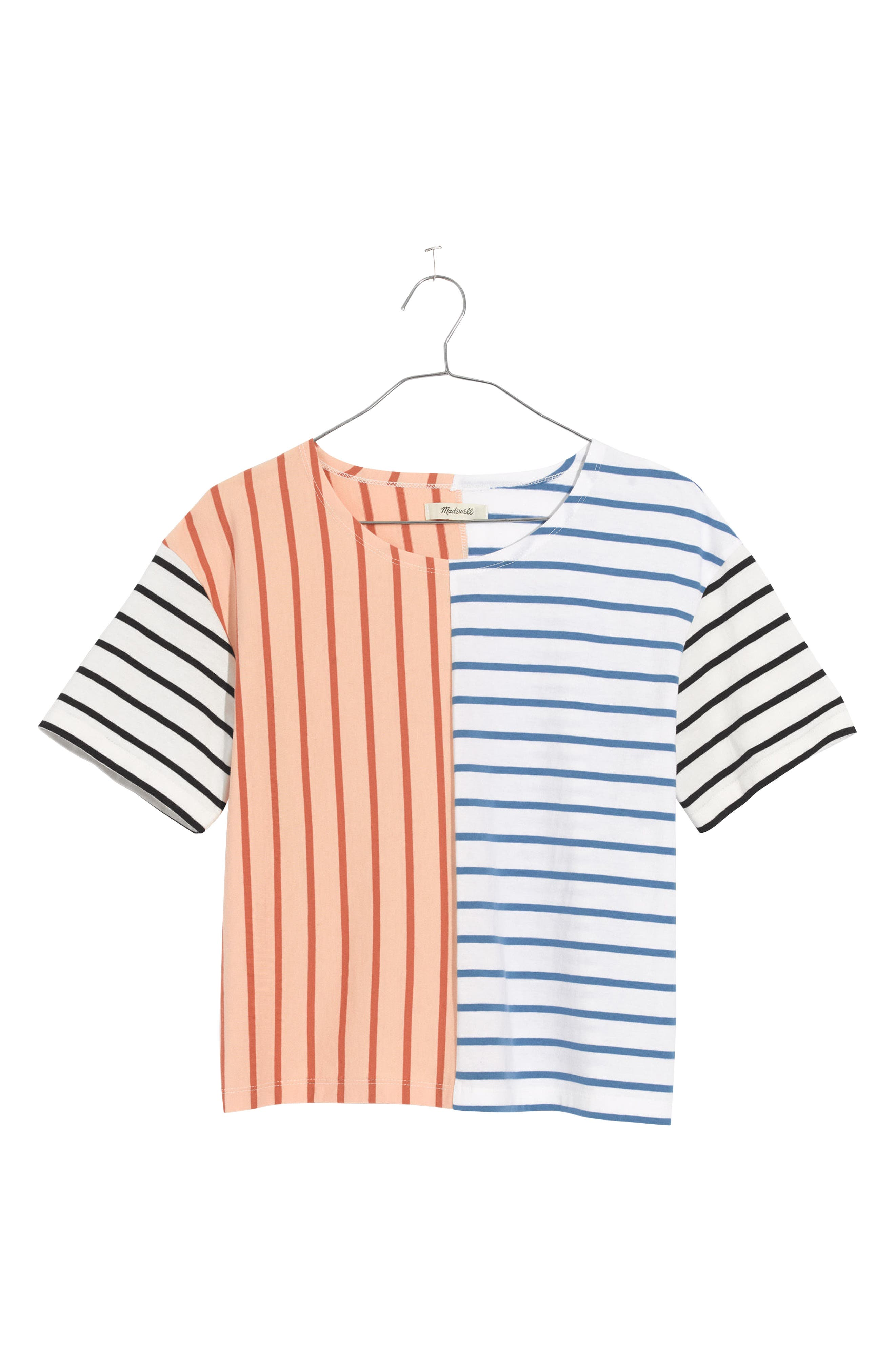 Alternate Image 3  - Madewell Mixed Stripe Easy Crop Tee