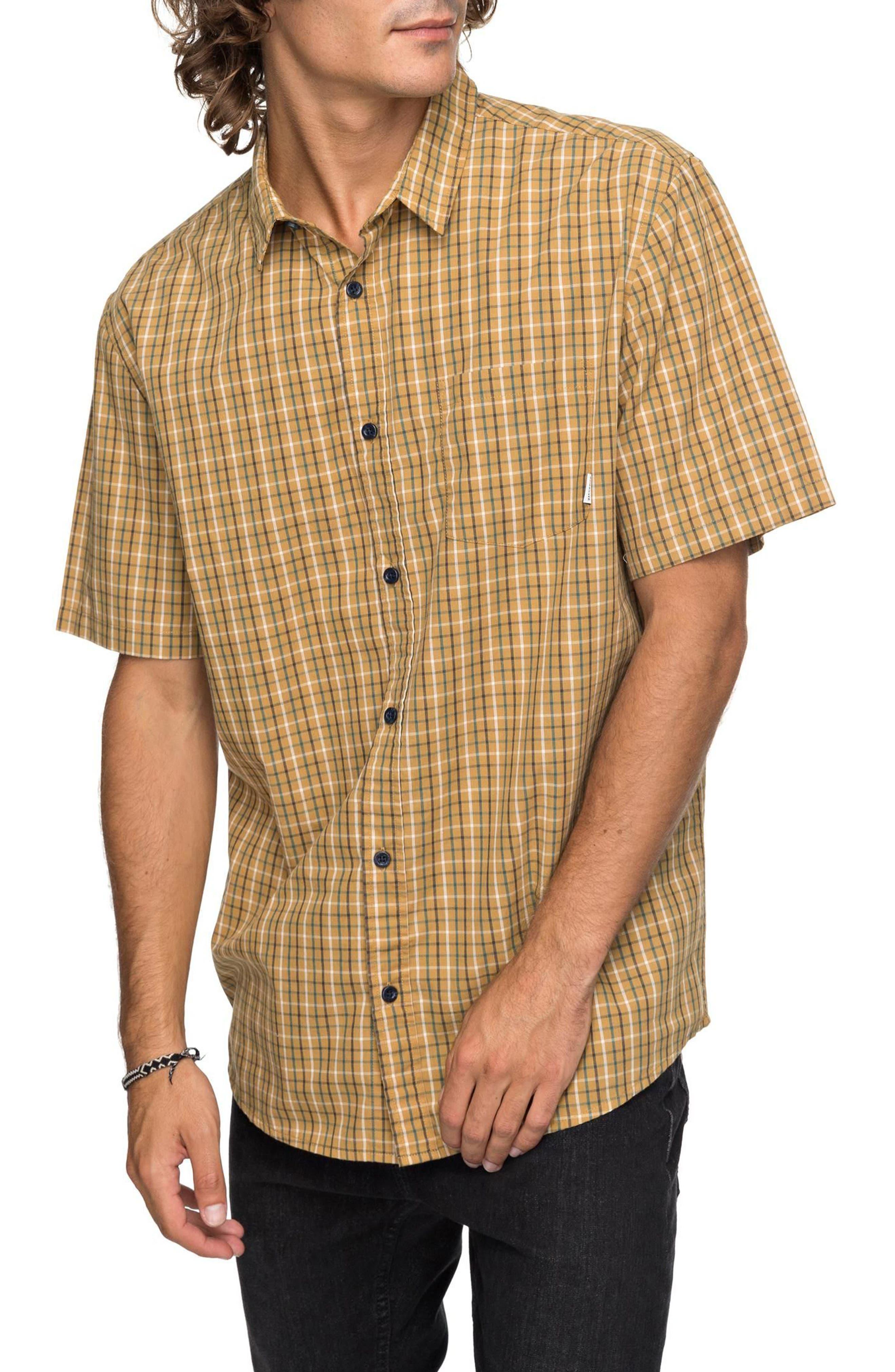 Moon Rythm Short Sleeve Shirt,                             Main thumbnail 1, color,                             Wood Trush