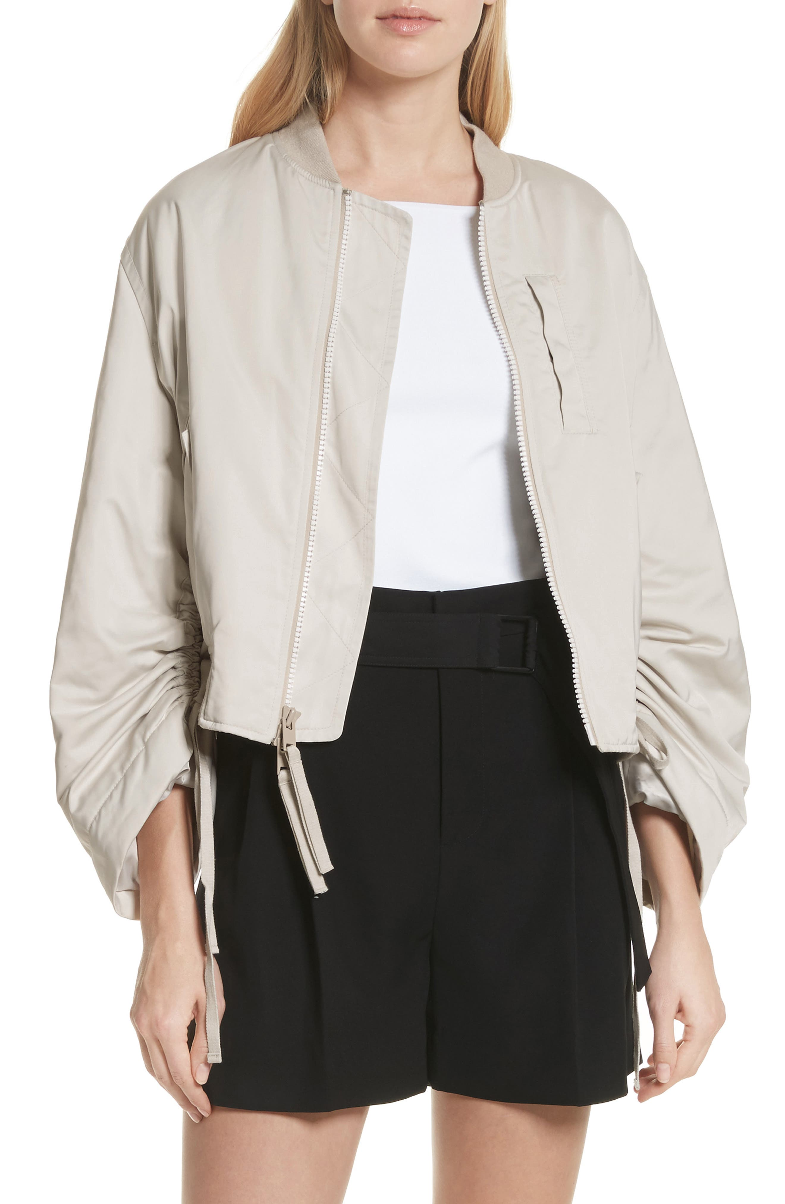 Parachute Bomber Jacket,                             Main thumbnail 1, color,                             Chalet