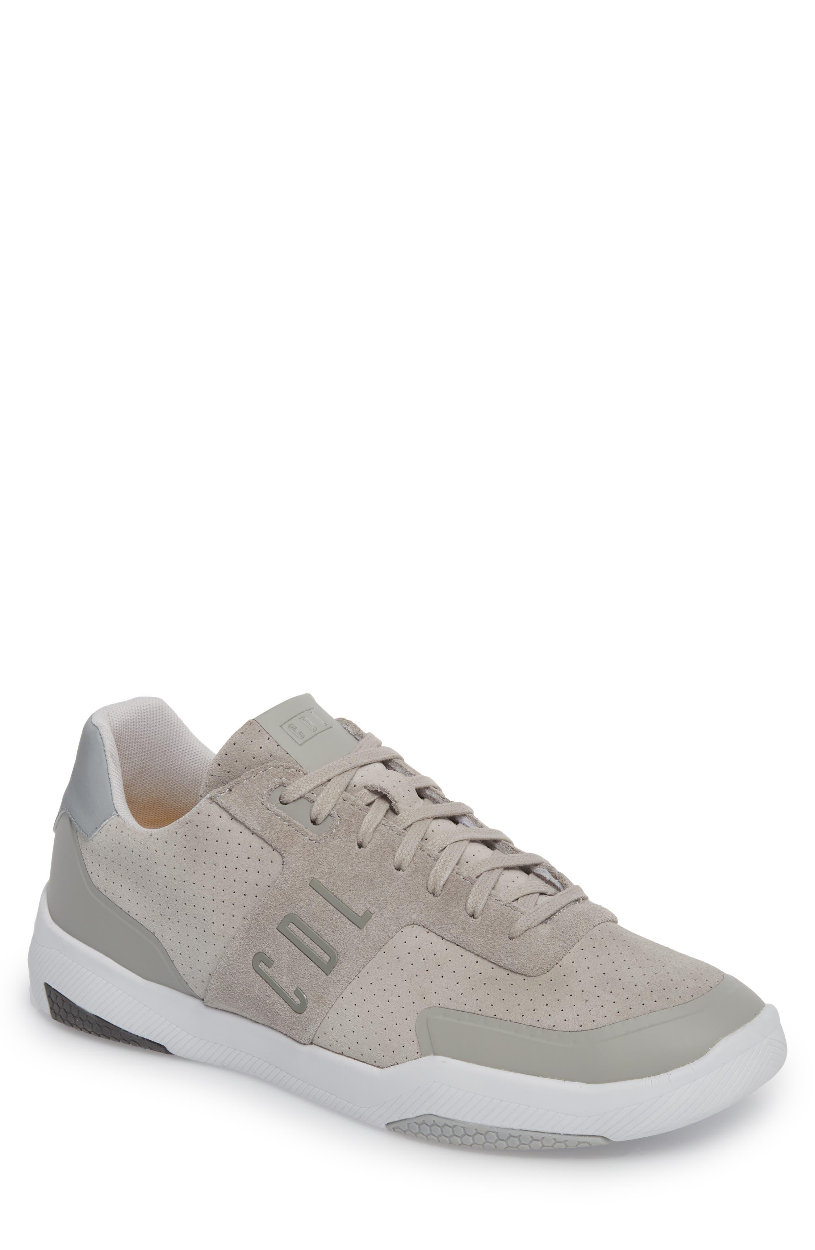 Shima Low Top Sneaker,                         Main,                         color, Grey Suede