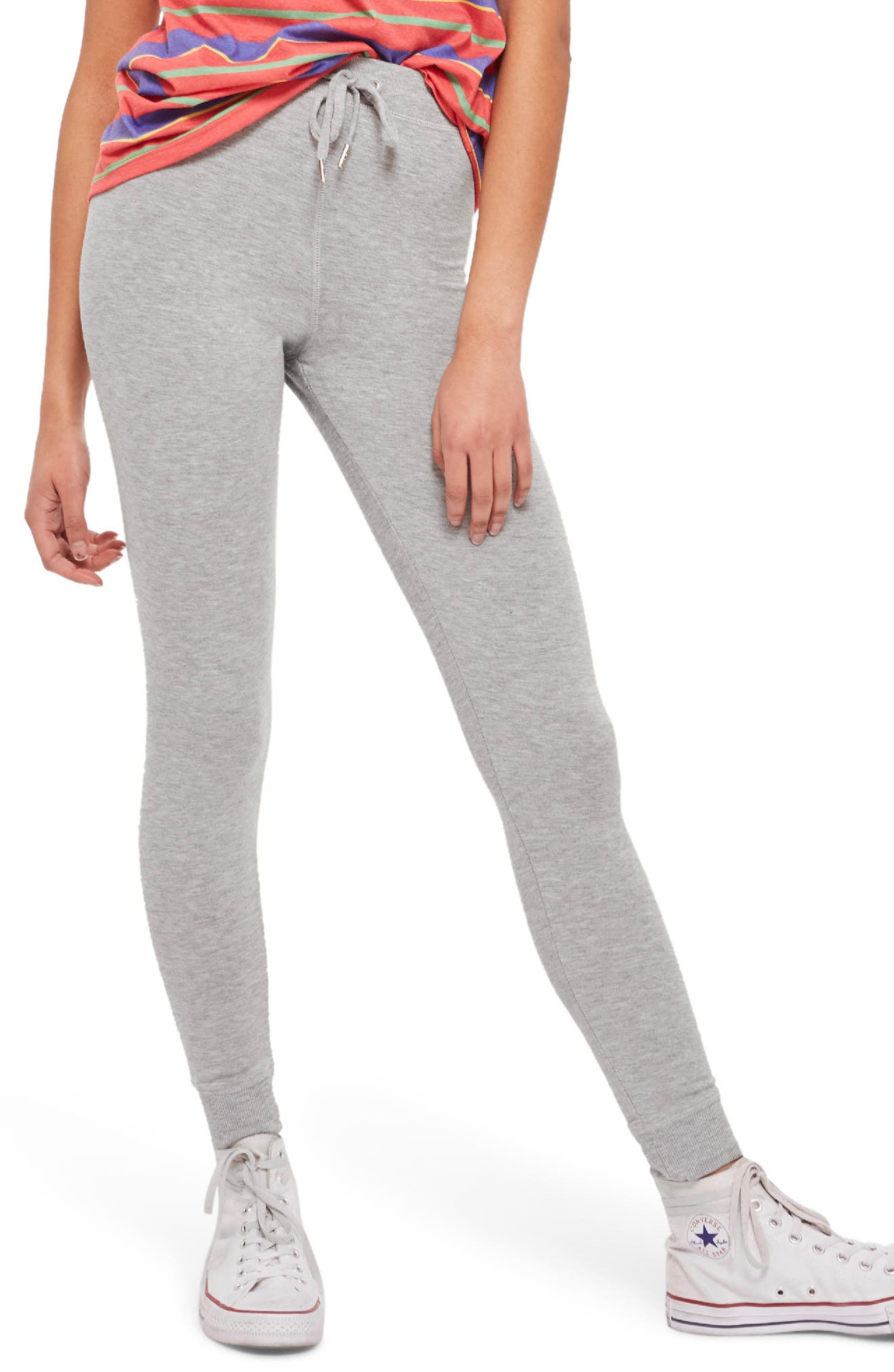 Slim Jogger Pants,                             Main thumbnail 1, color,                             Grey Marl