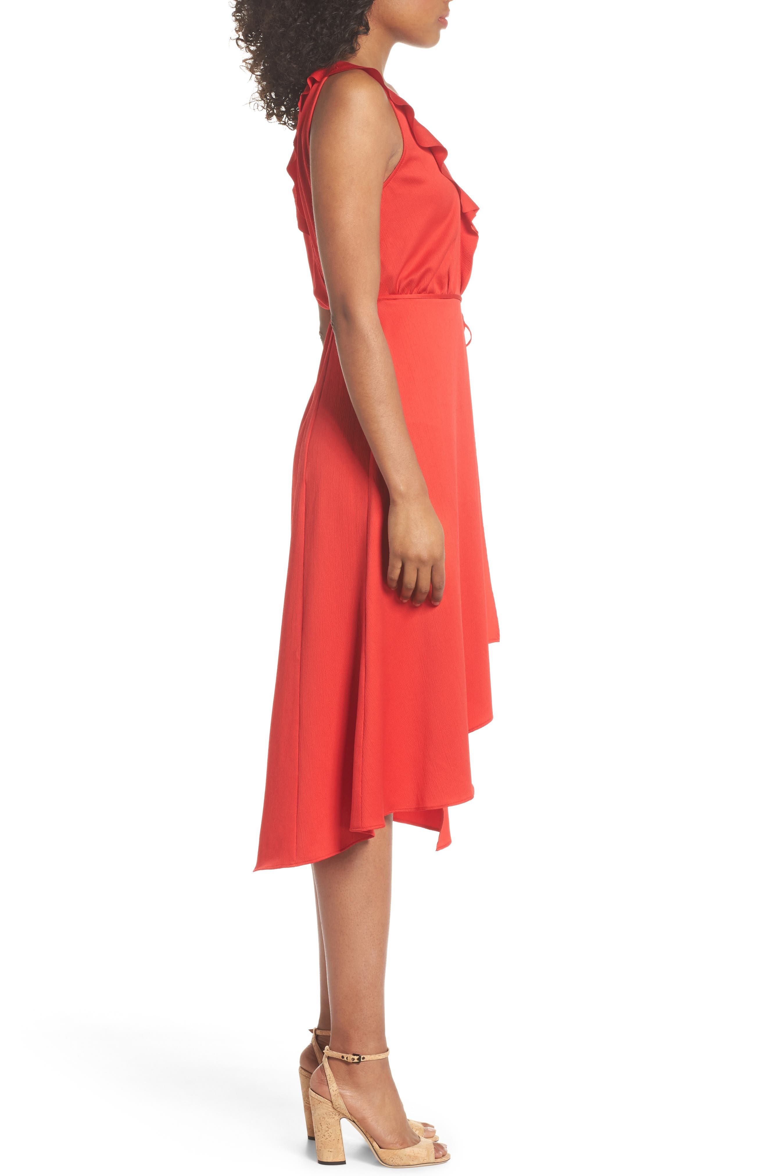 Alternate Image 3  - French Connection Maudie Ruffle Midi Dress