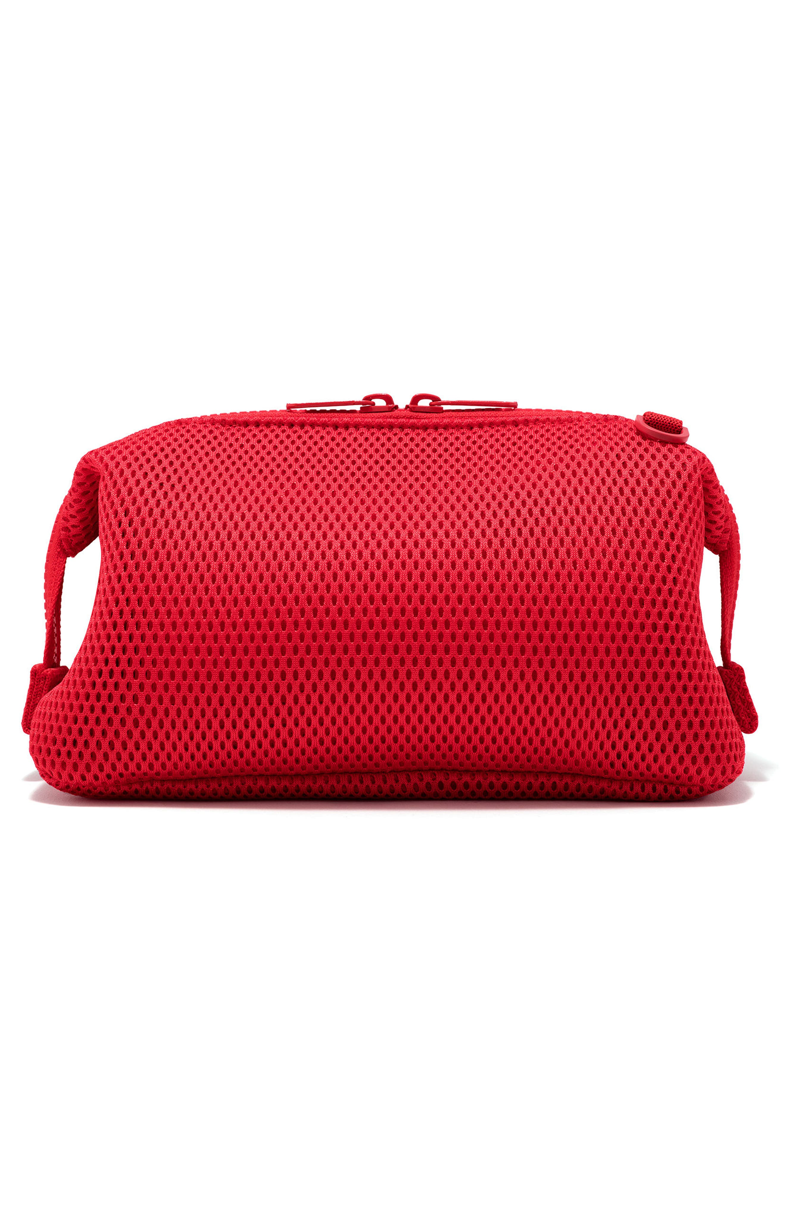 Large Hunter Neoprene Toiletry Bag,                             Alternate thumbnail 3, color,                             Poppy Air Mesh