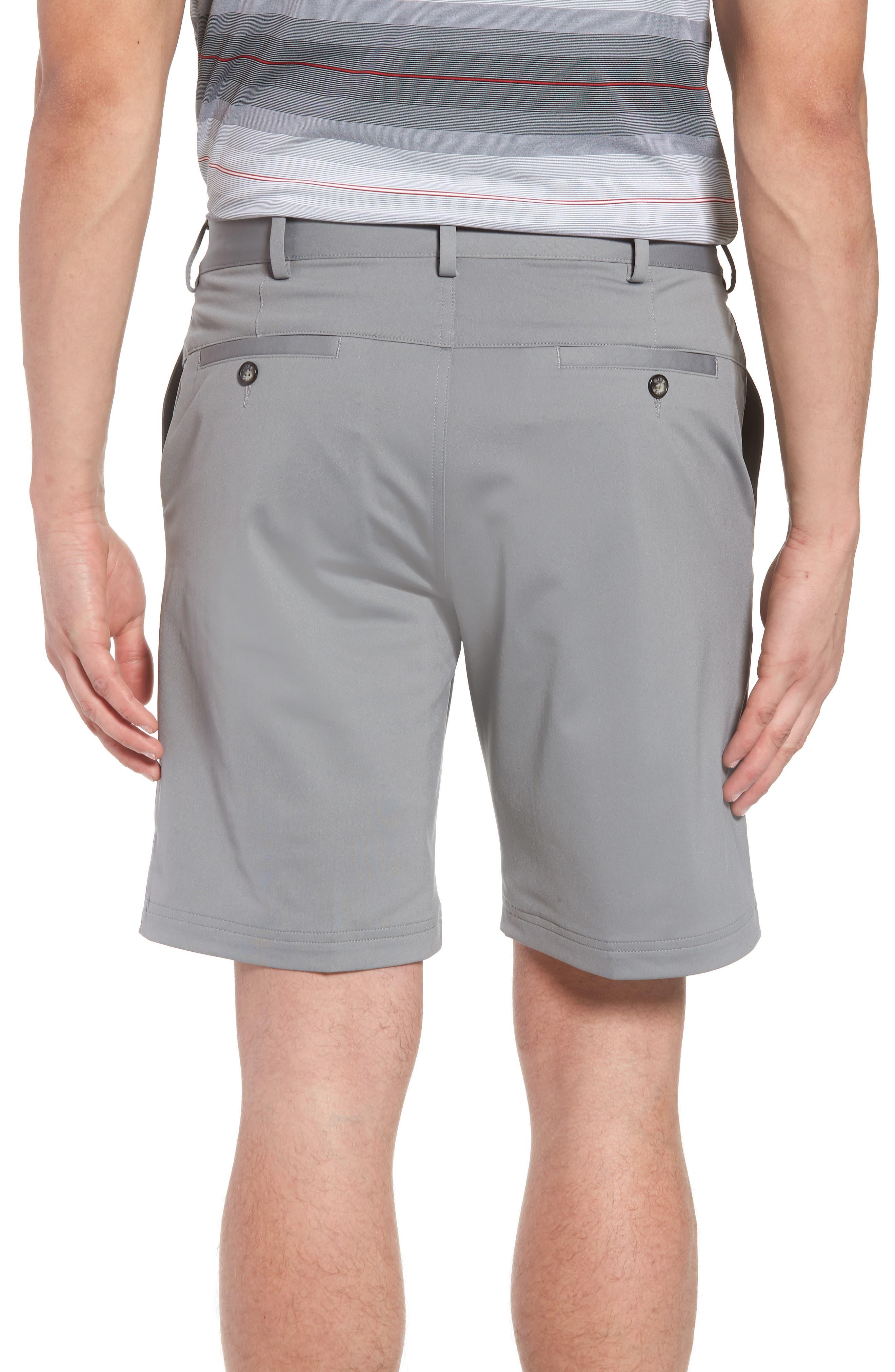 Trim Fit Tech Chino Shorts,                             Alternate thumbnail 2, color,                             Graphite Heather