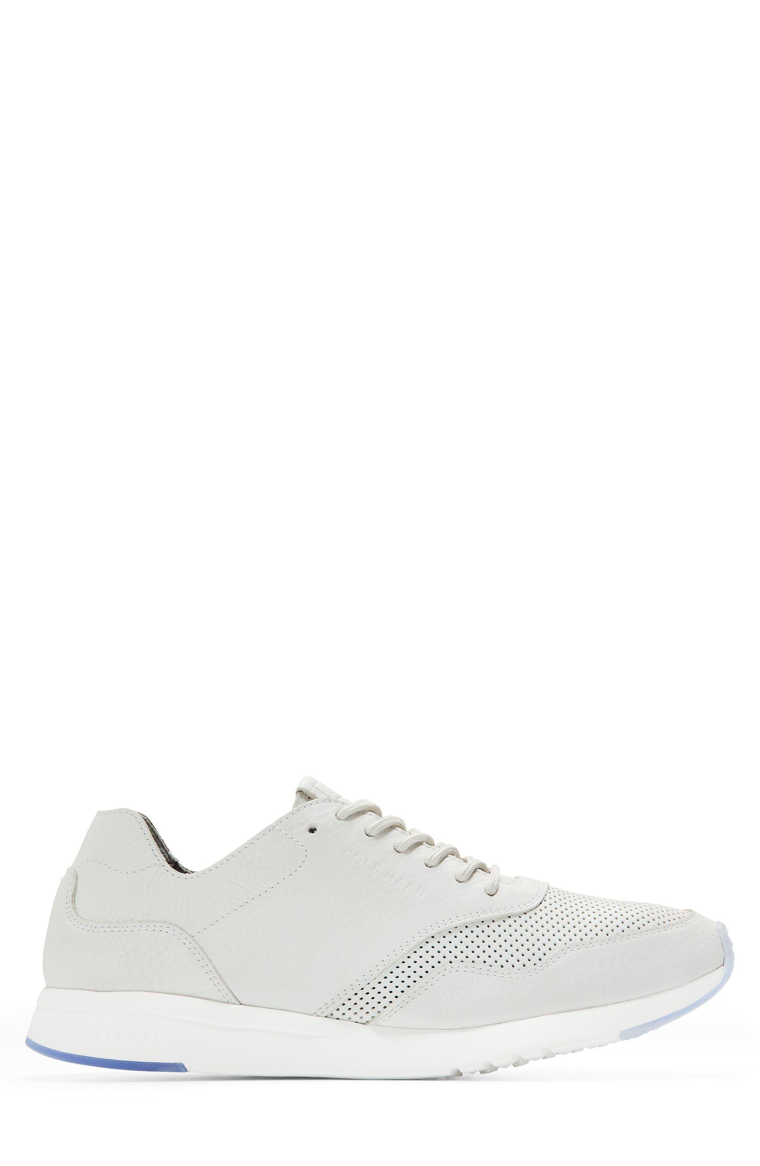 GrandPrø Deconstructed Running Sneaker,                             Alternate thumbnail 3, color,                             White Leather
