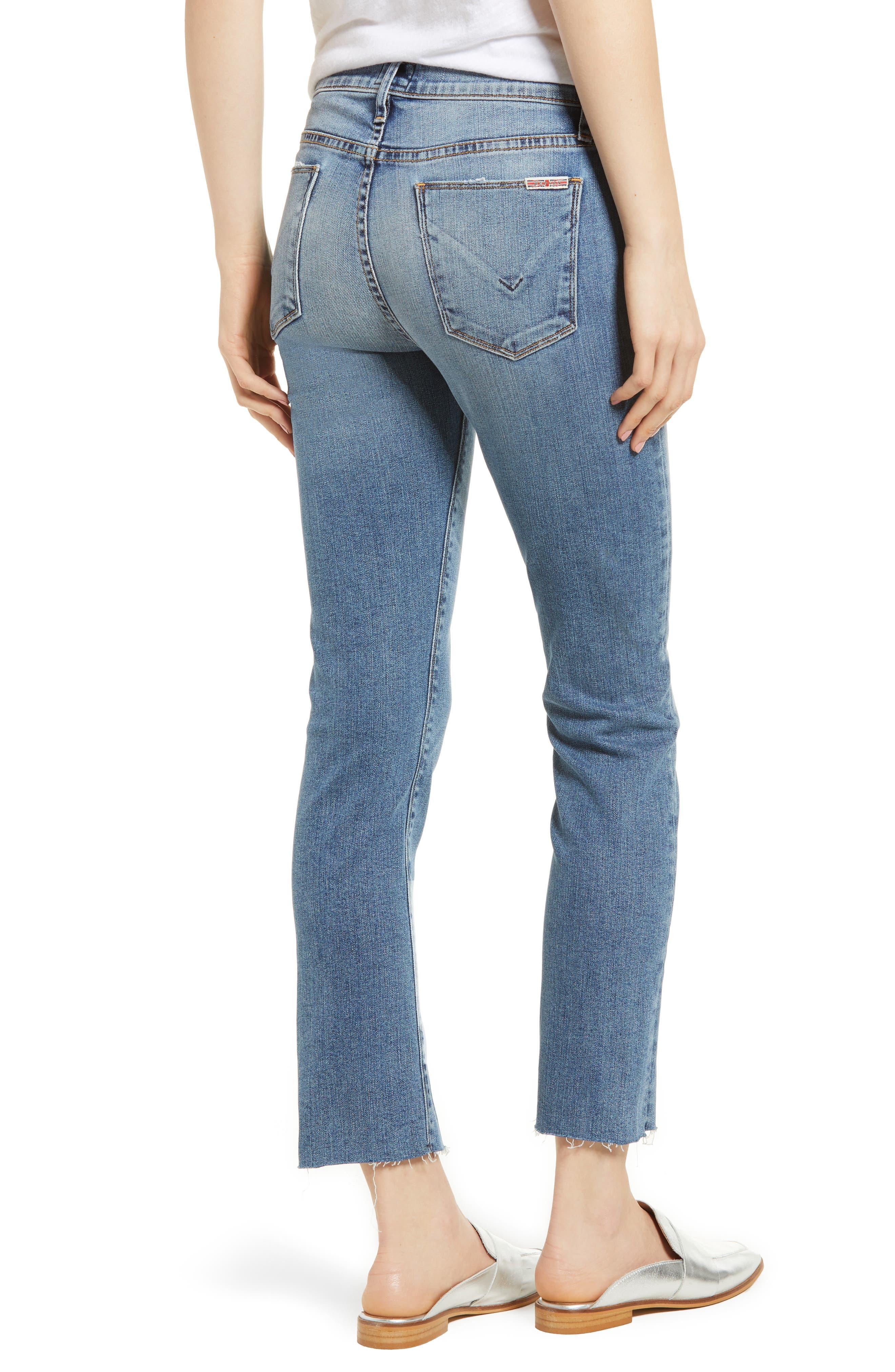 Nico Slit Hem Ankle Straight Leg Jeans,                             Alternate thumbnail 2, color,                             Moxie