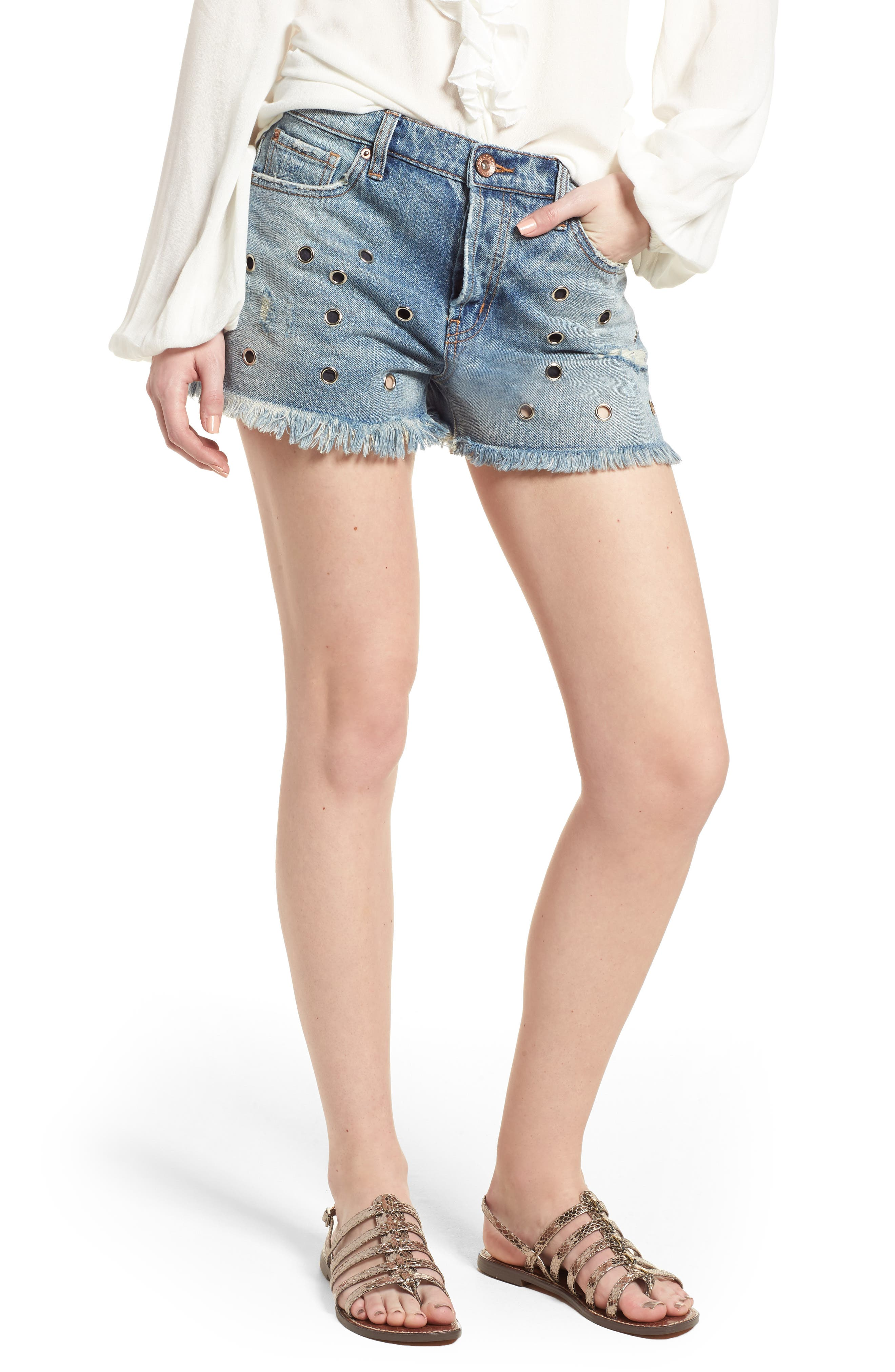 Band of Gypsies Grommet Detail Denim Shorts (South by Southwest)