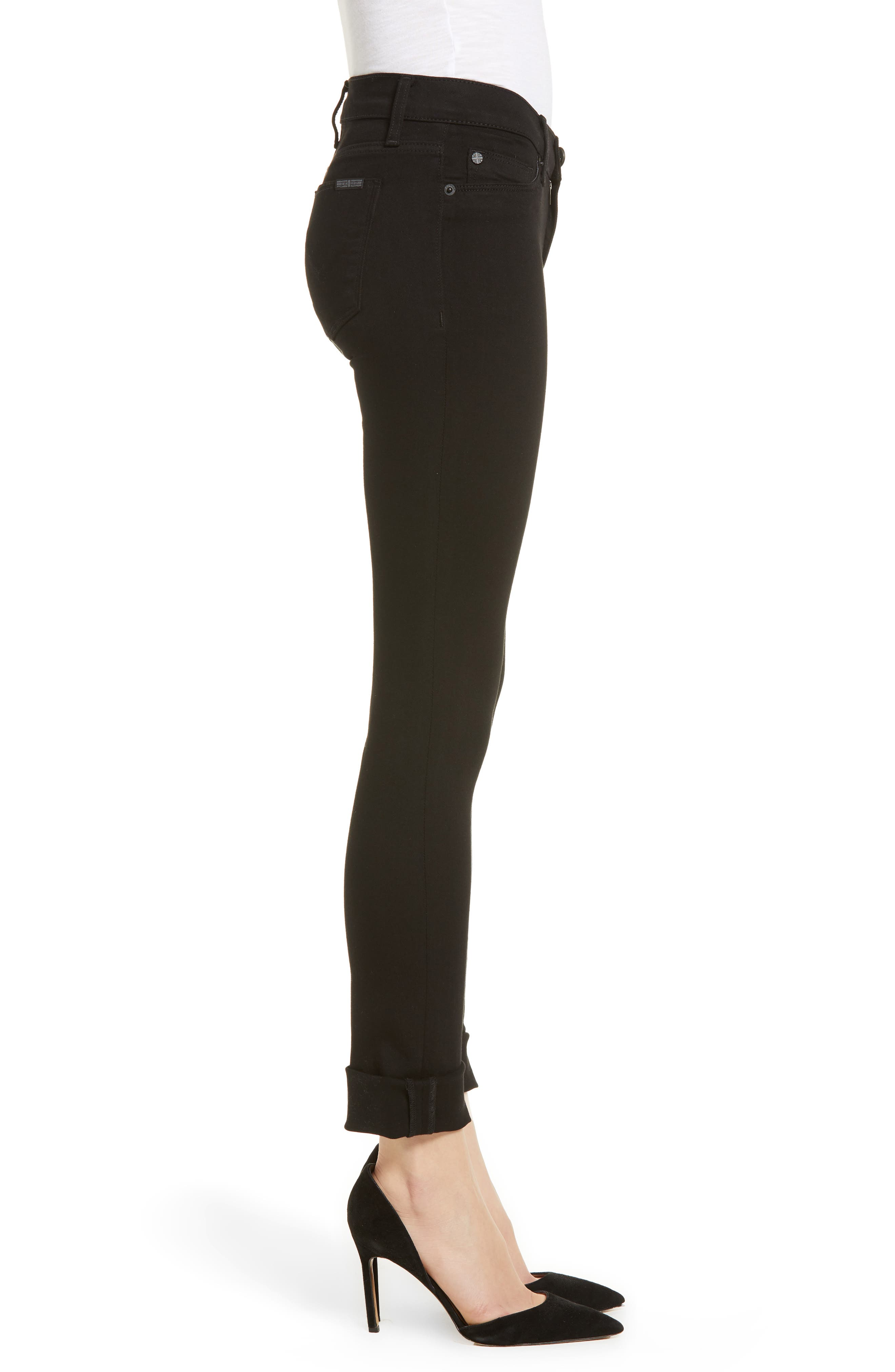 Tally Crop Skinny Jeans,                             Alternate thumbnail 3, color,                             Black