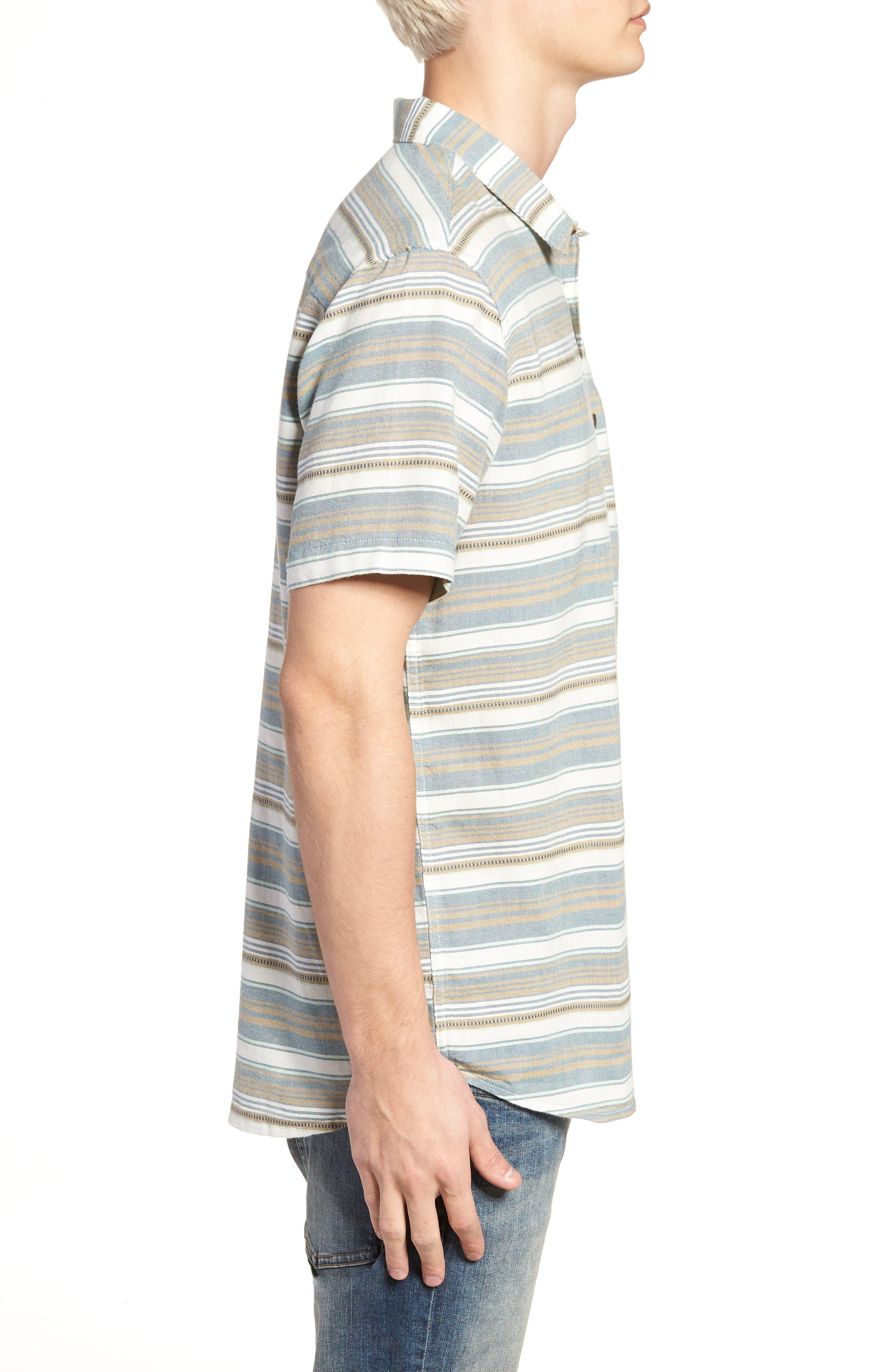 Currington Short Sleeve Shirt,                             Alternate thumbnail 3, color,                             Khaki