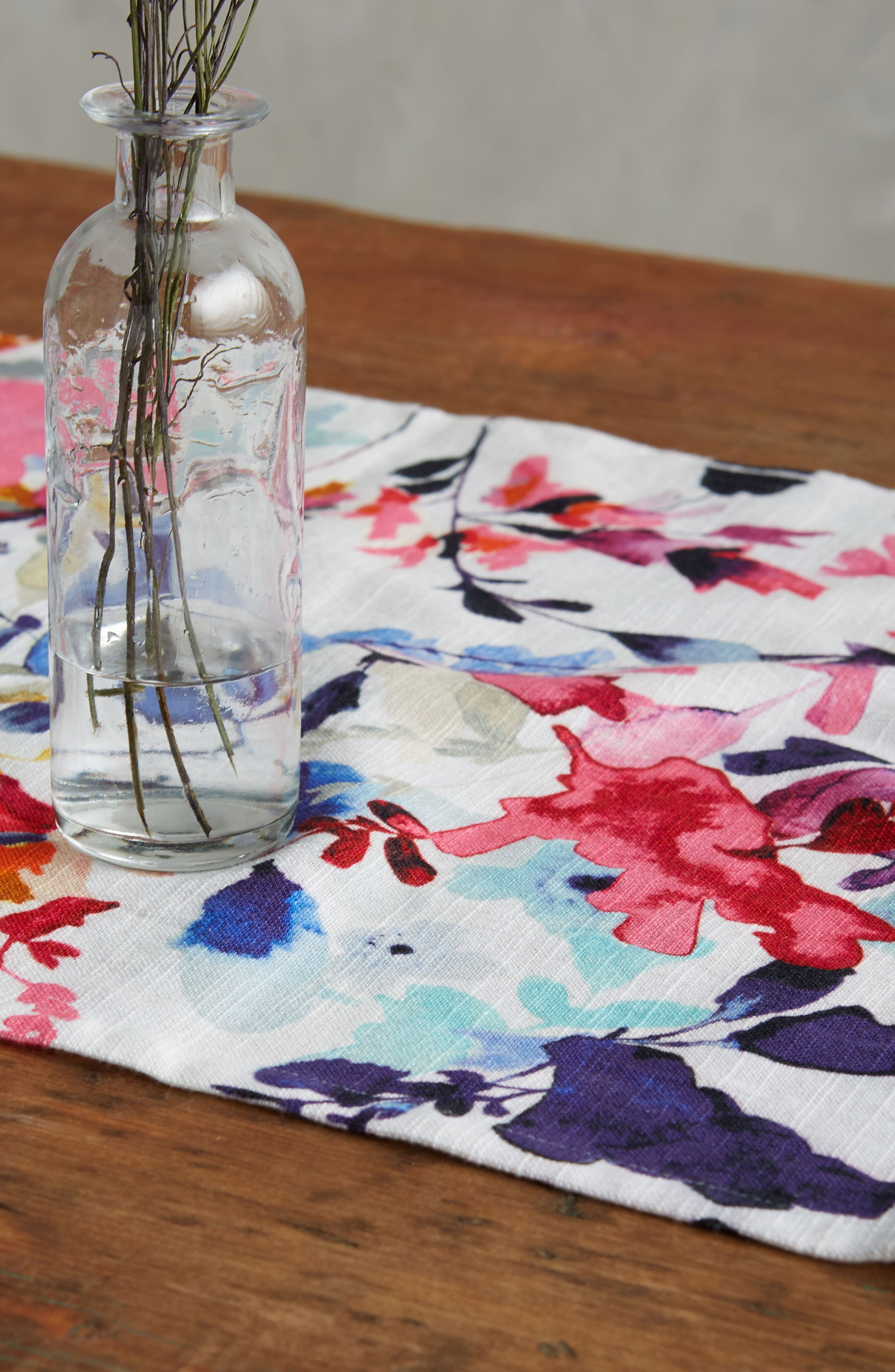 Wildflower Study Table Runner,                             Alternate thumbnail 2, color,                             Pink Multi