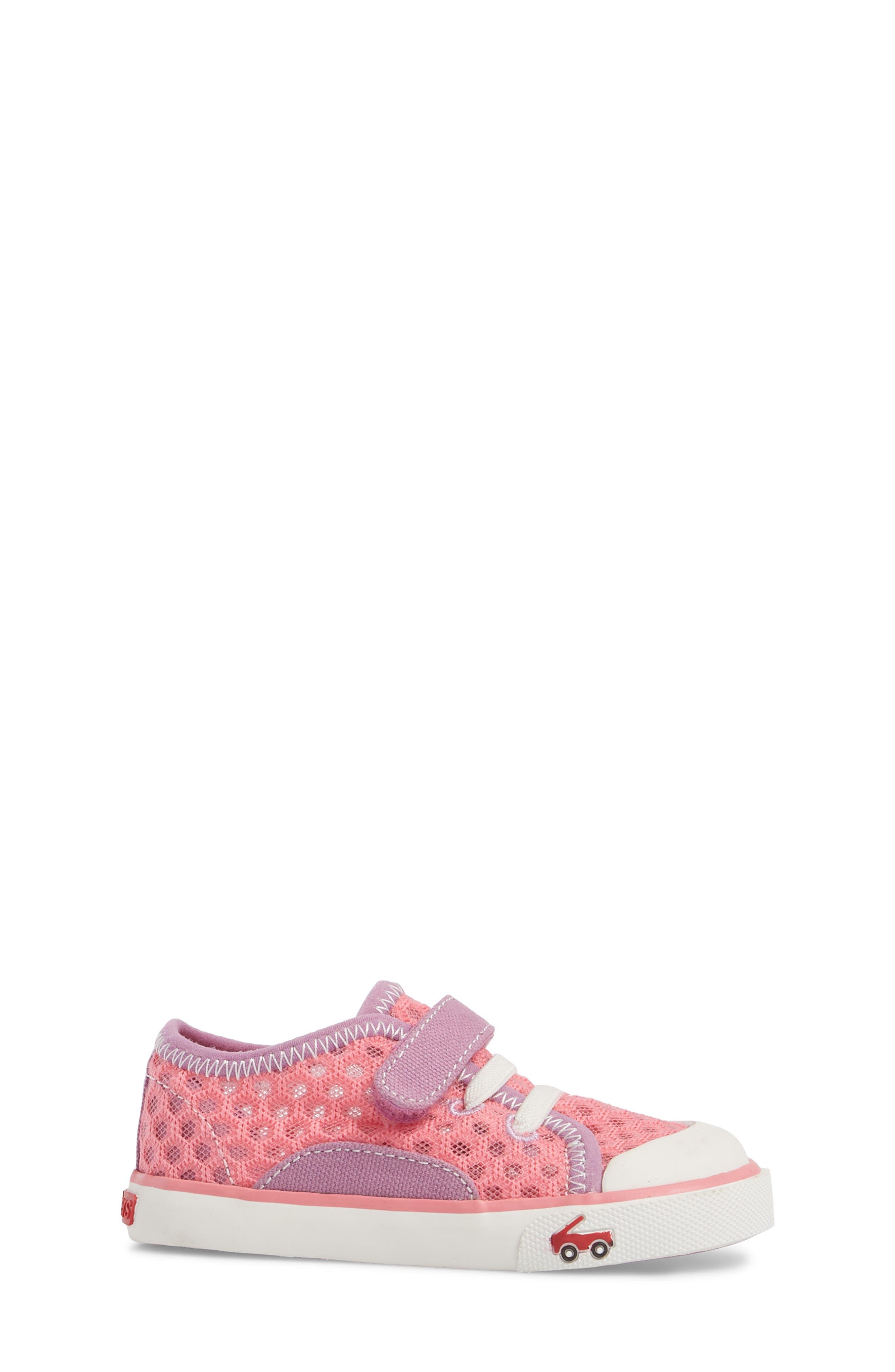 Saylor Sneaker,                             Alternate thumbnail 3, color,                             Hot Pink
