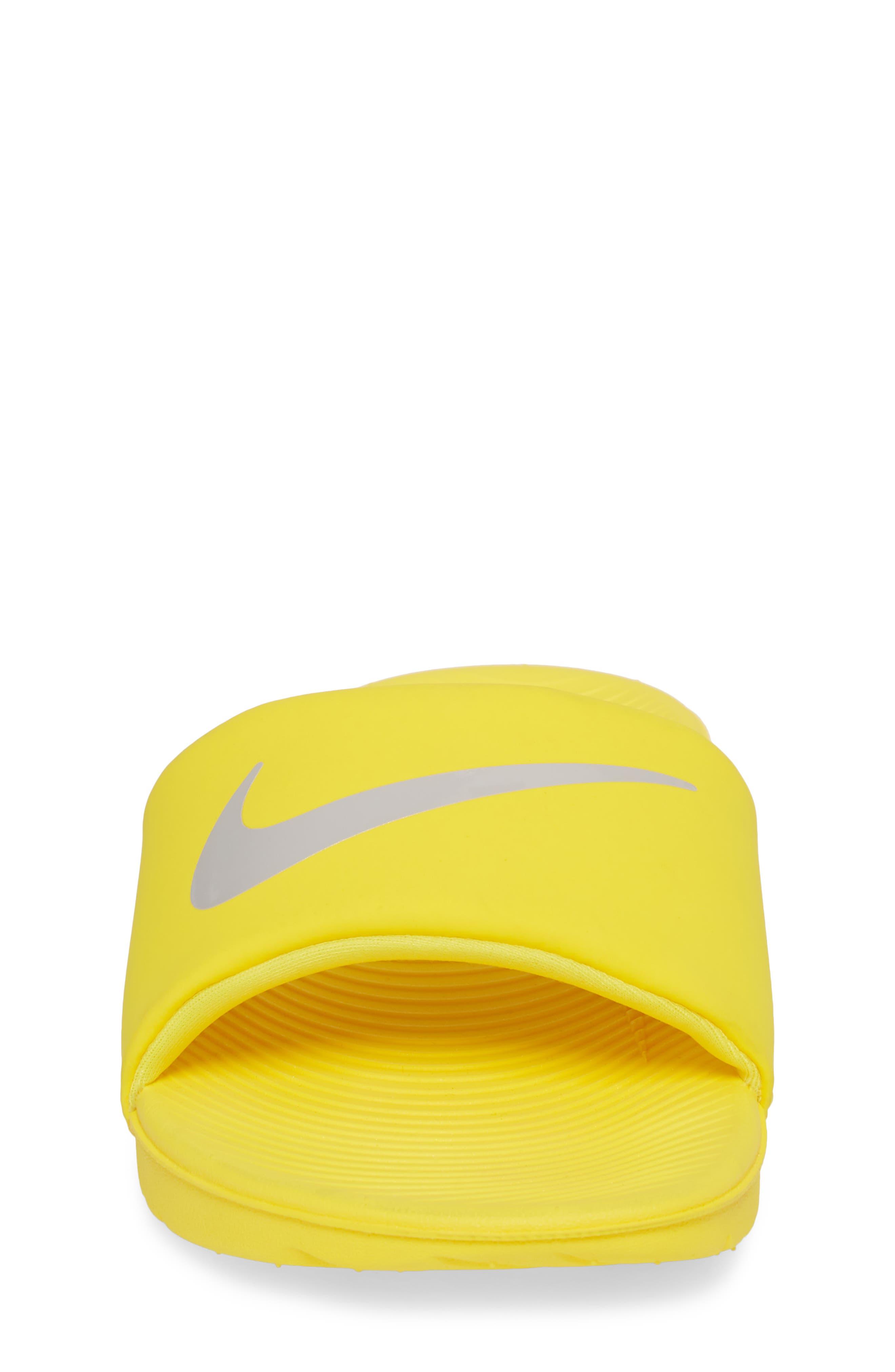 'Kawa' Slide Sandal,                             Alternate thumbnail 4, color,                             Yellow/ Atmosphere Grey