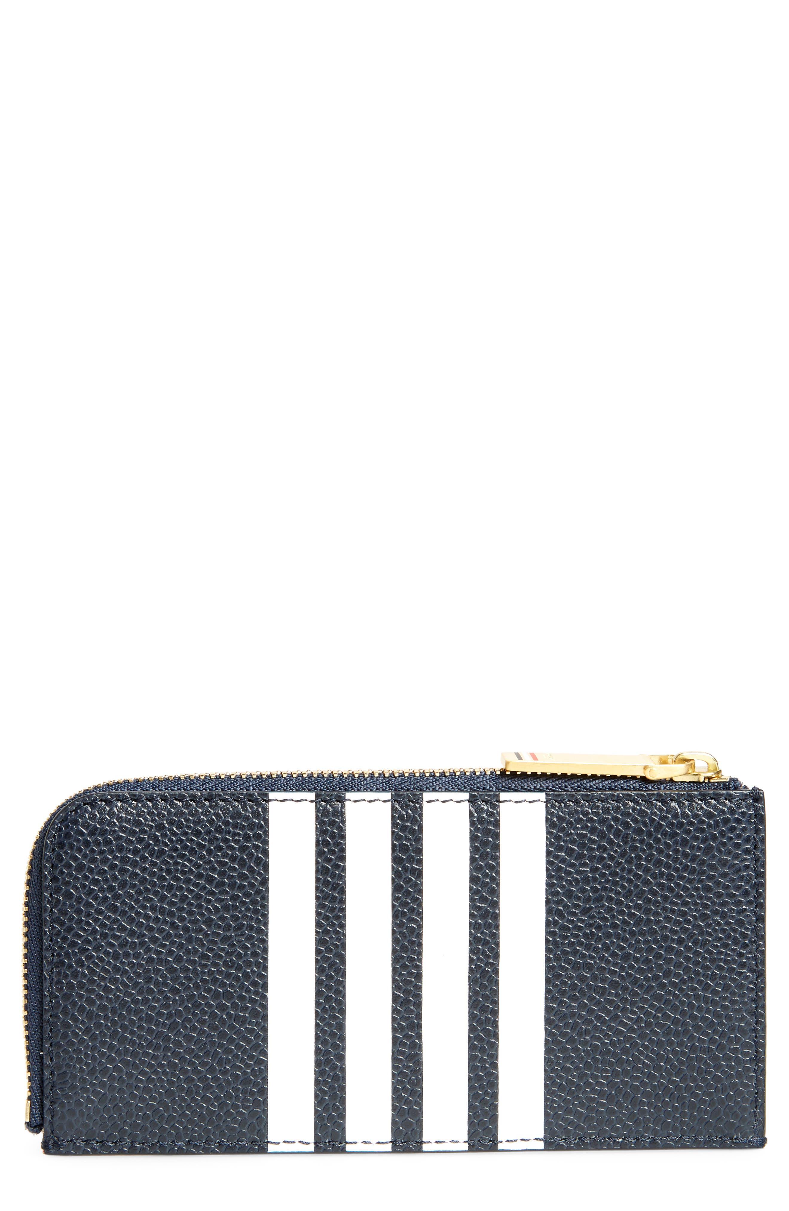 Zip Card Case,                         Main,                         color, Navy