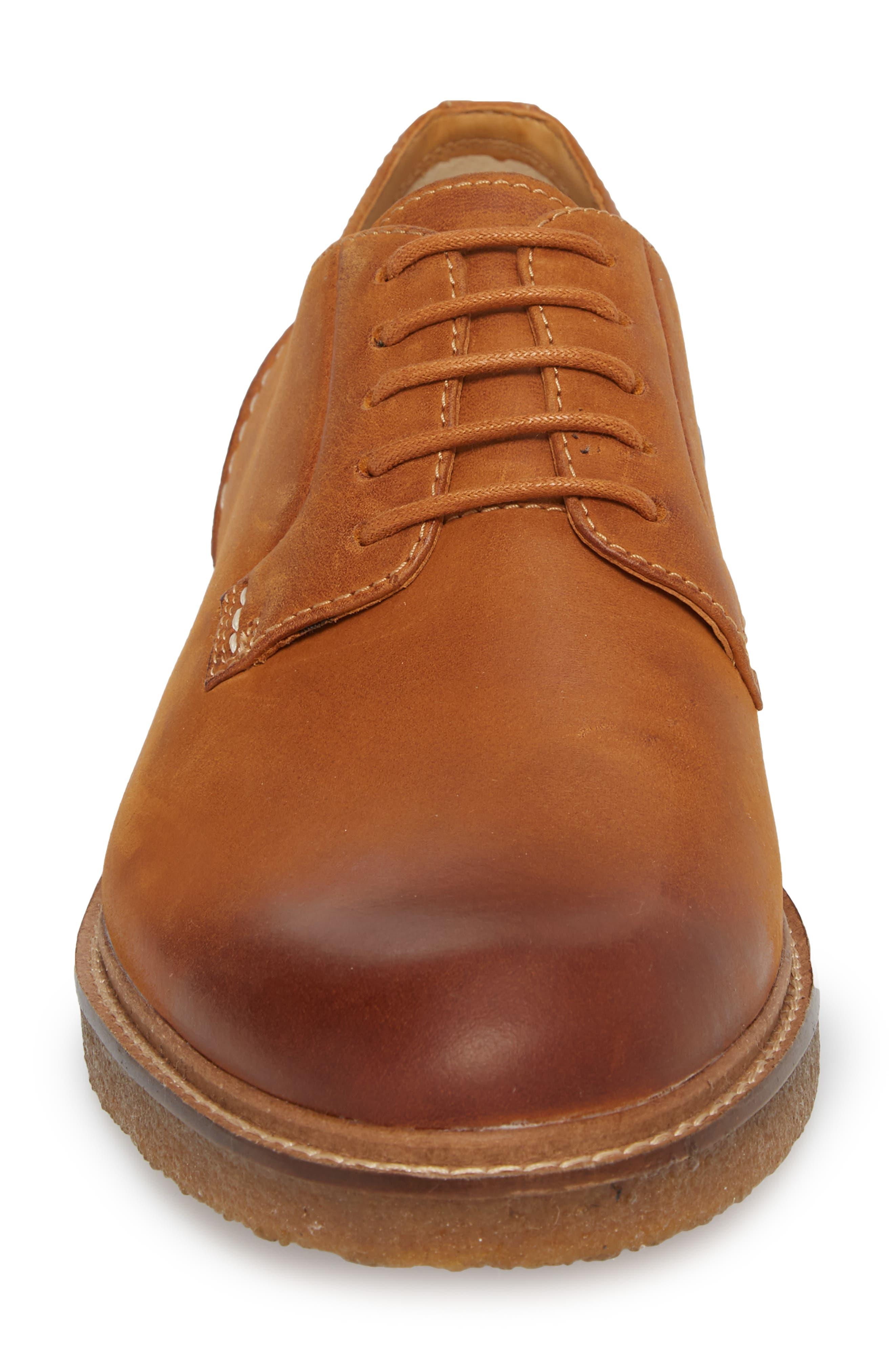 Gold Cup Plain Toe Derby,                             Alternate thumbnail 4, color,                             Tan Leather