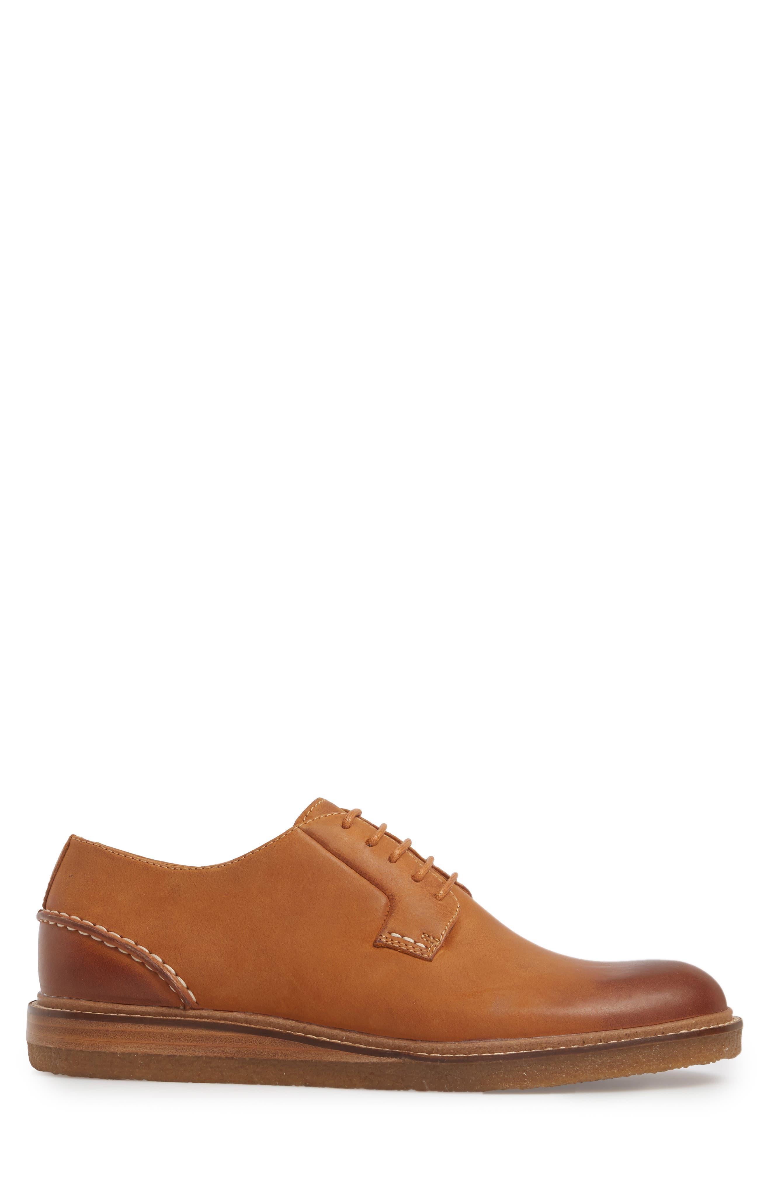 Gold Cup Plain Toe Derby,                             Alternate thumbnail 3, color,                             Tan Leather