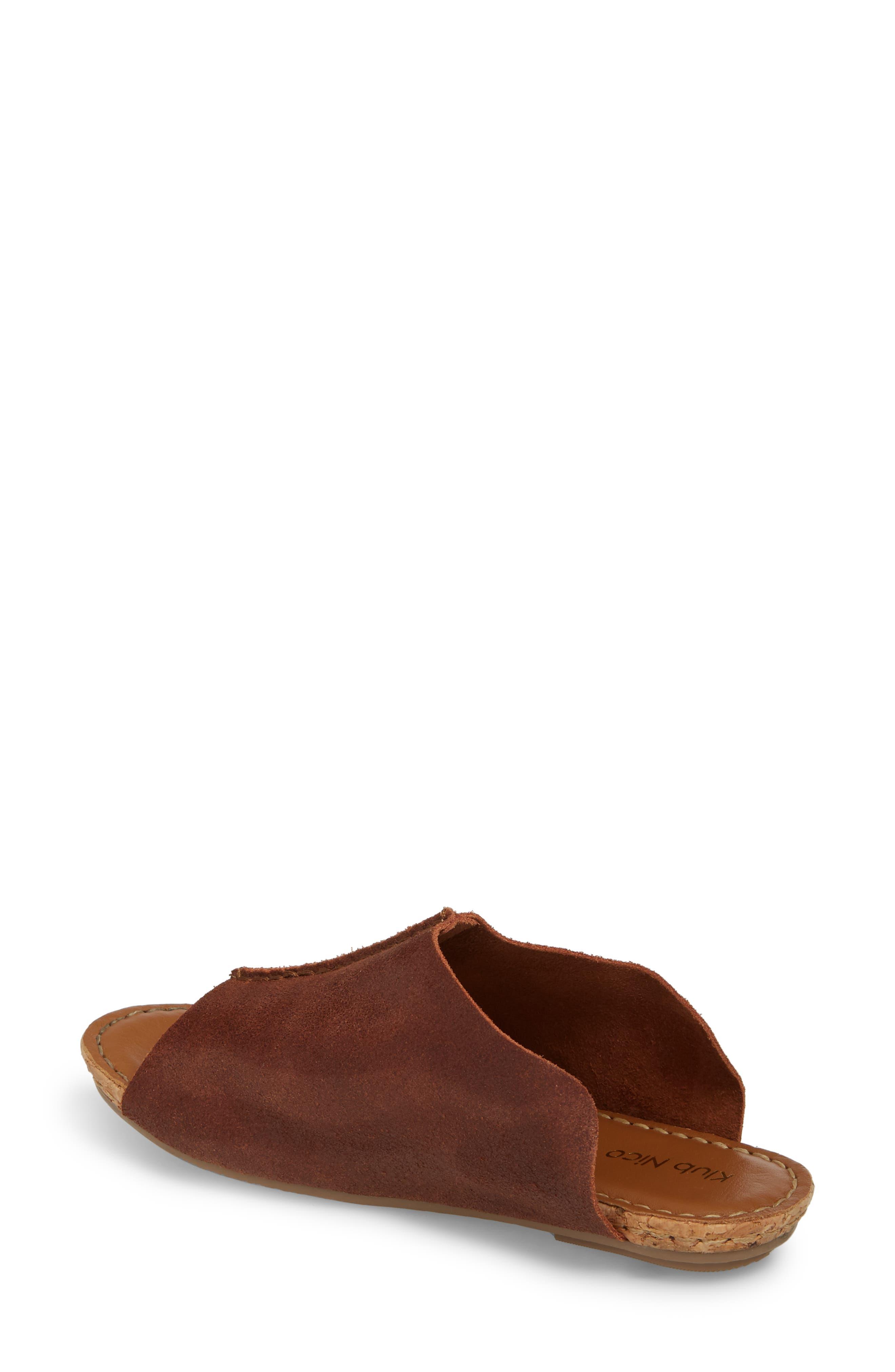 Gracey Slide Sandal,                             Alternate thumbnail 2, color,                             Rum Leather