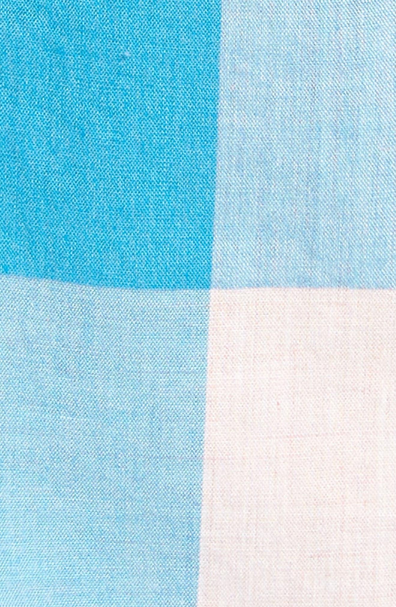 Classic Fit Stretch Secret Wash Check Sport Shirt,                             Alternate thumbnail 5, color,                             Blush Sea