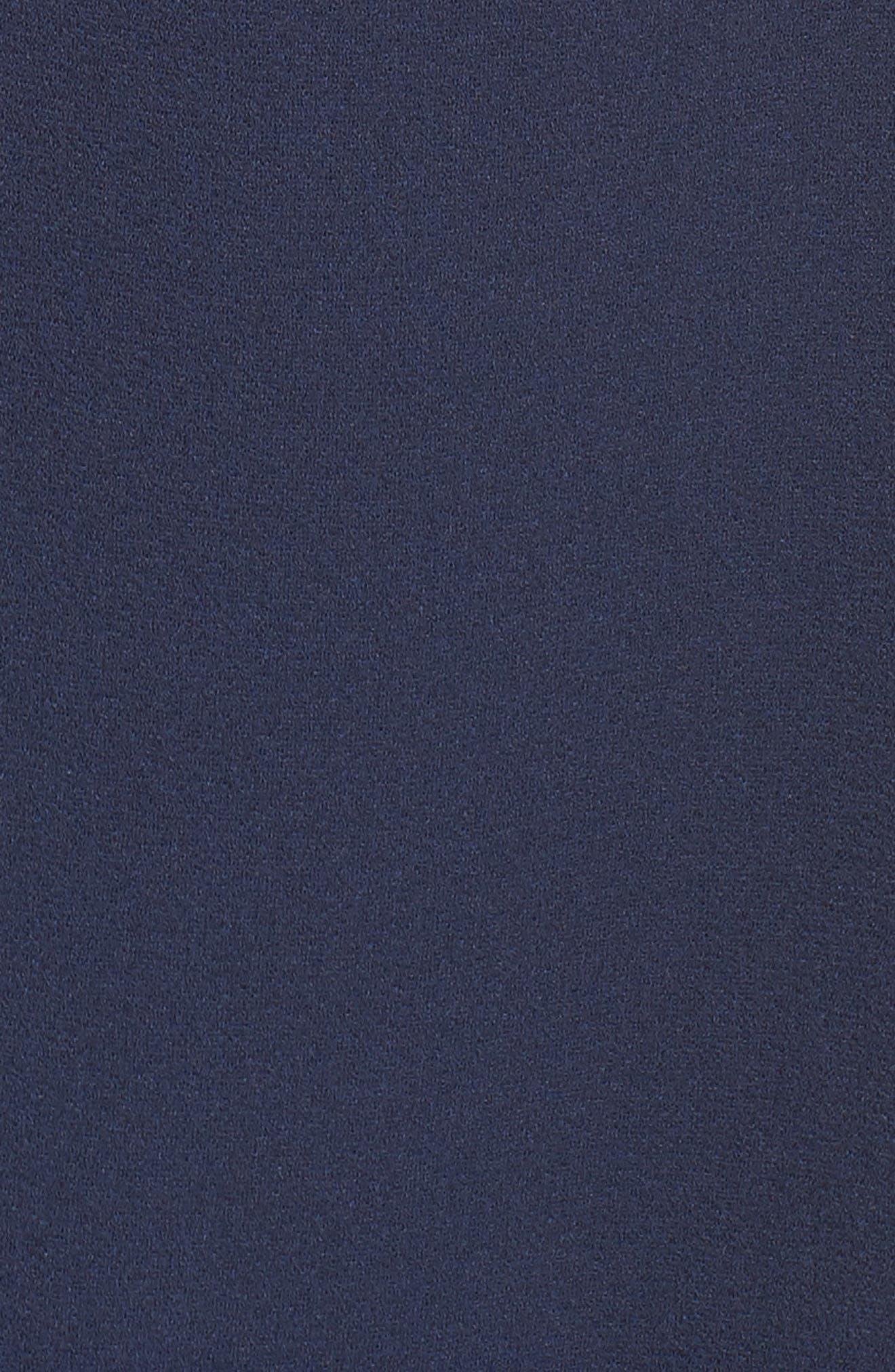 Tiered Ruffle Shift Dress,                             Alternate thumbnail 6, color,                             Navy