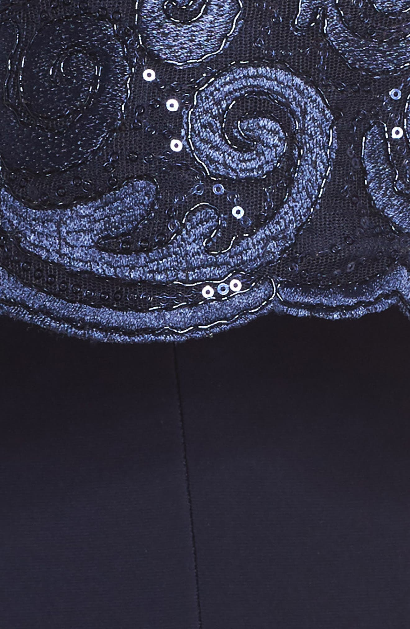Sequin Embellished Gown with Bolero Jacket,                             Alternate thumbnail 5, color,                             Navy