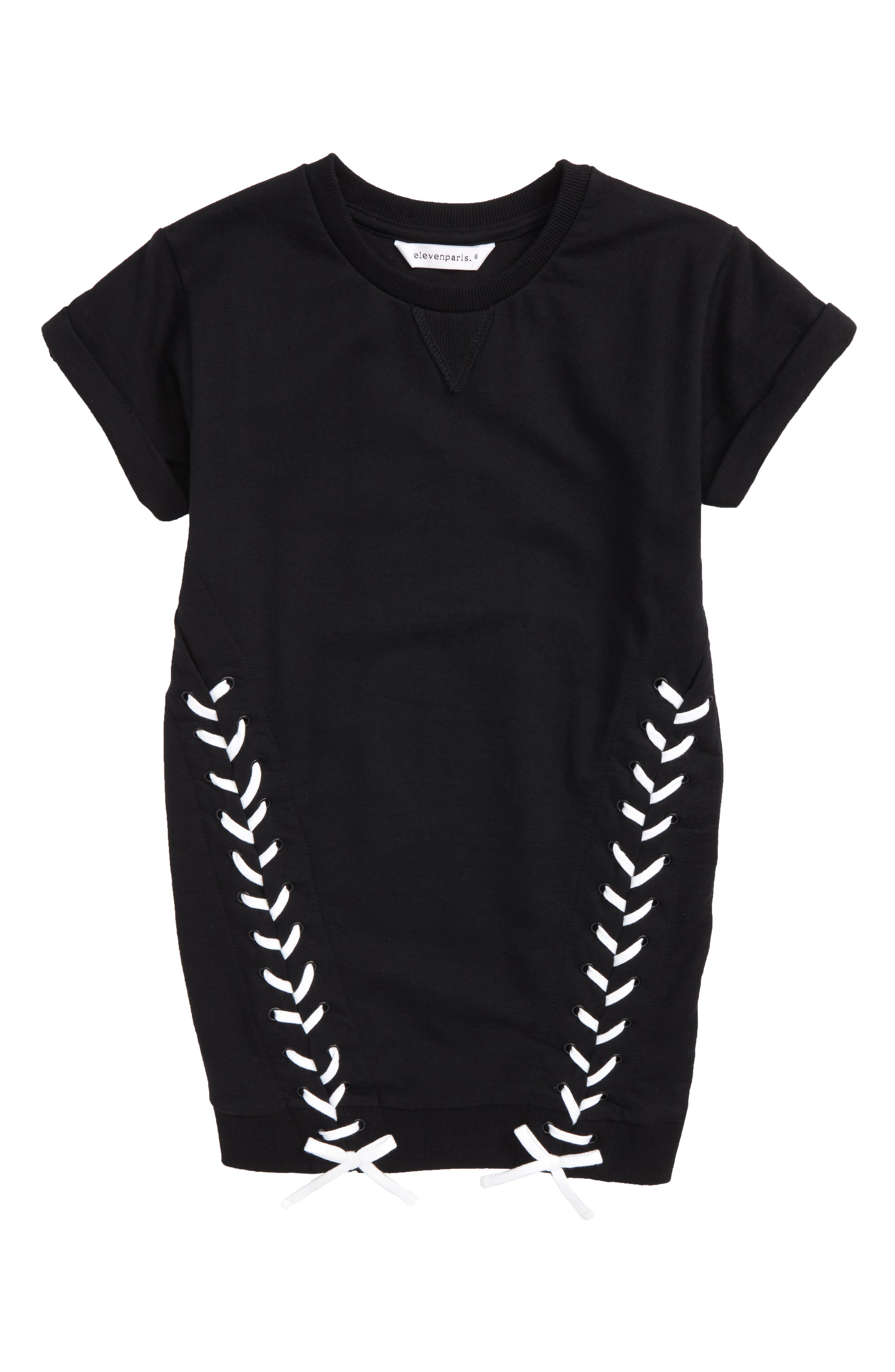 Adorn Sweatshirt Dress,                         Main,                         color, Black