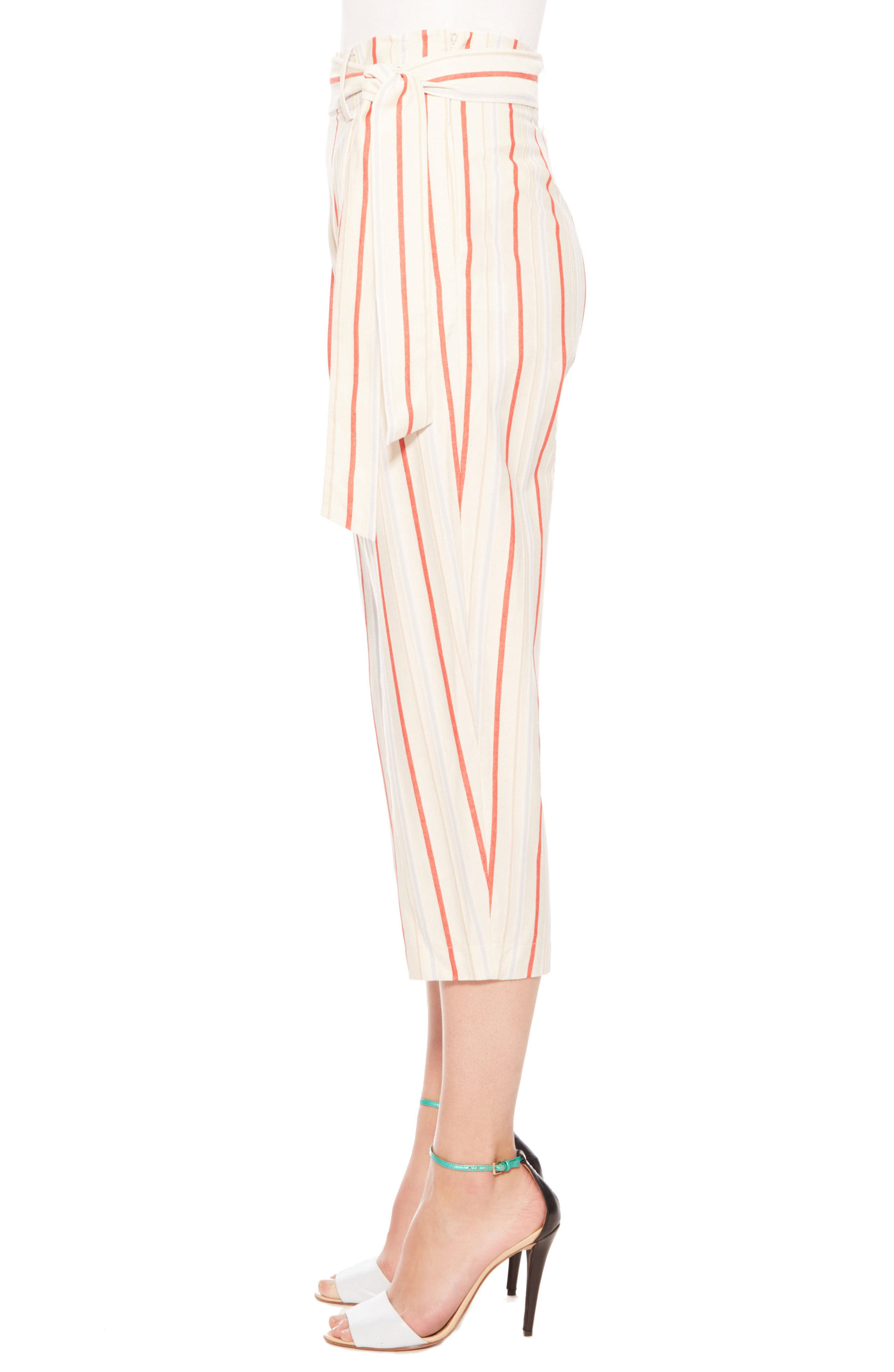 Ramsey Stripe Cotton Twill Pants,                             Alternate thumbnail 4, color,                             Multi