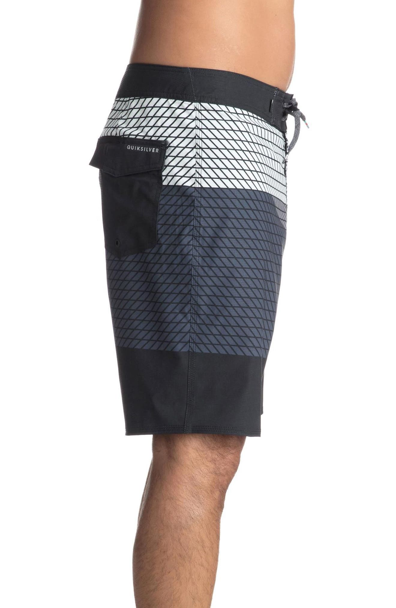 Highline Slash Board Shorts,                             Alternate thumbnail 3, color,                             Black