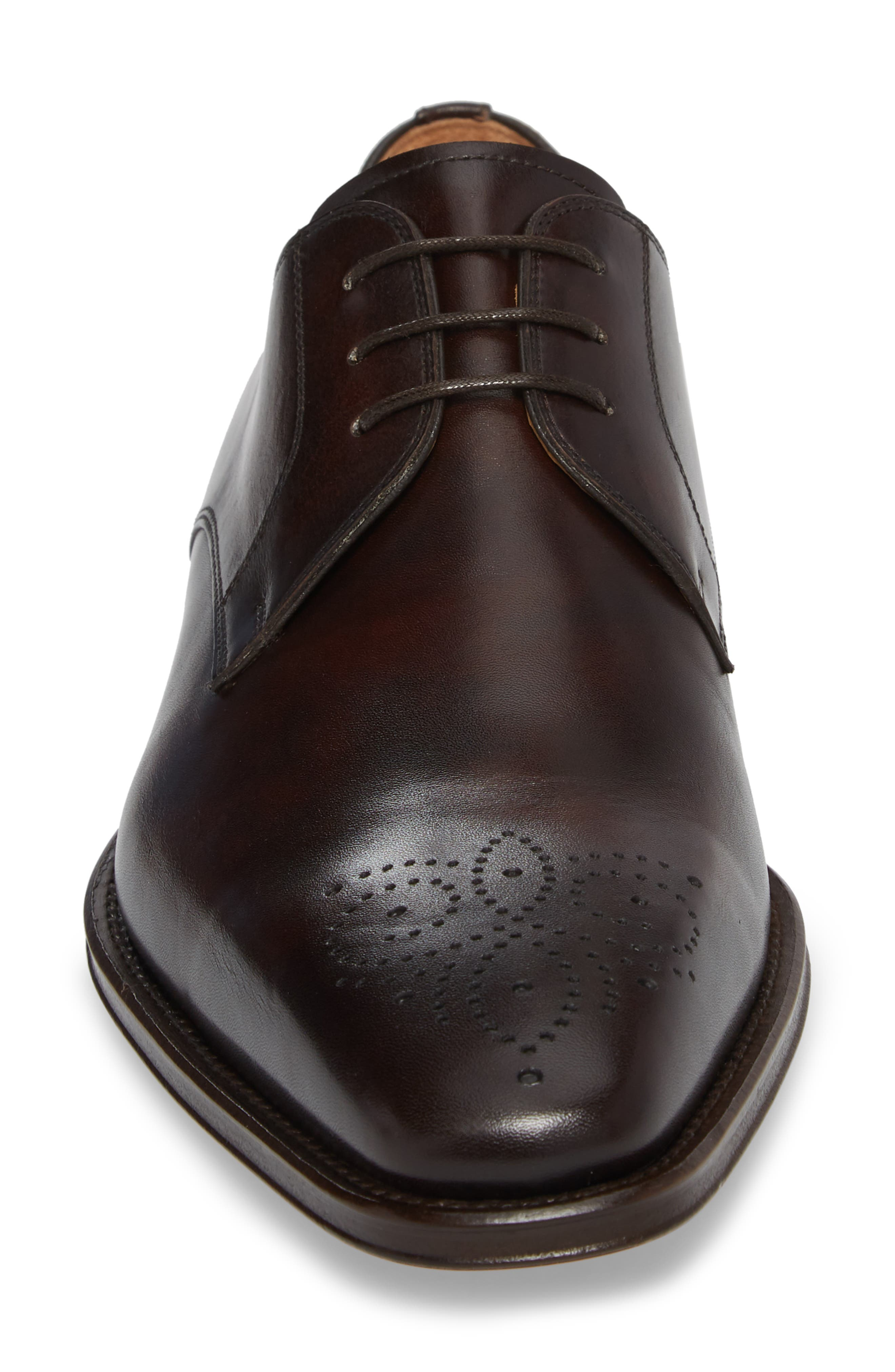 Gerardo Medallion Toe Derby,                             Alternate thumbnail 7, color,                             Brown Leather