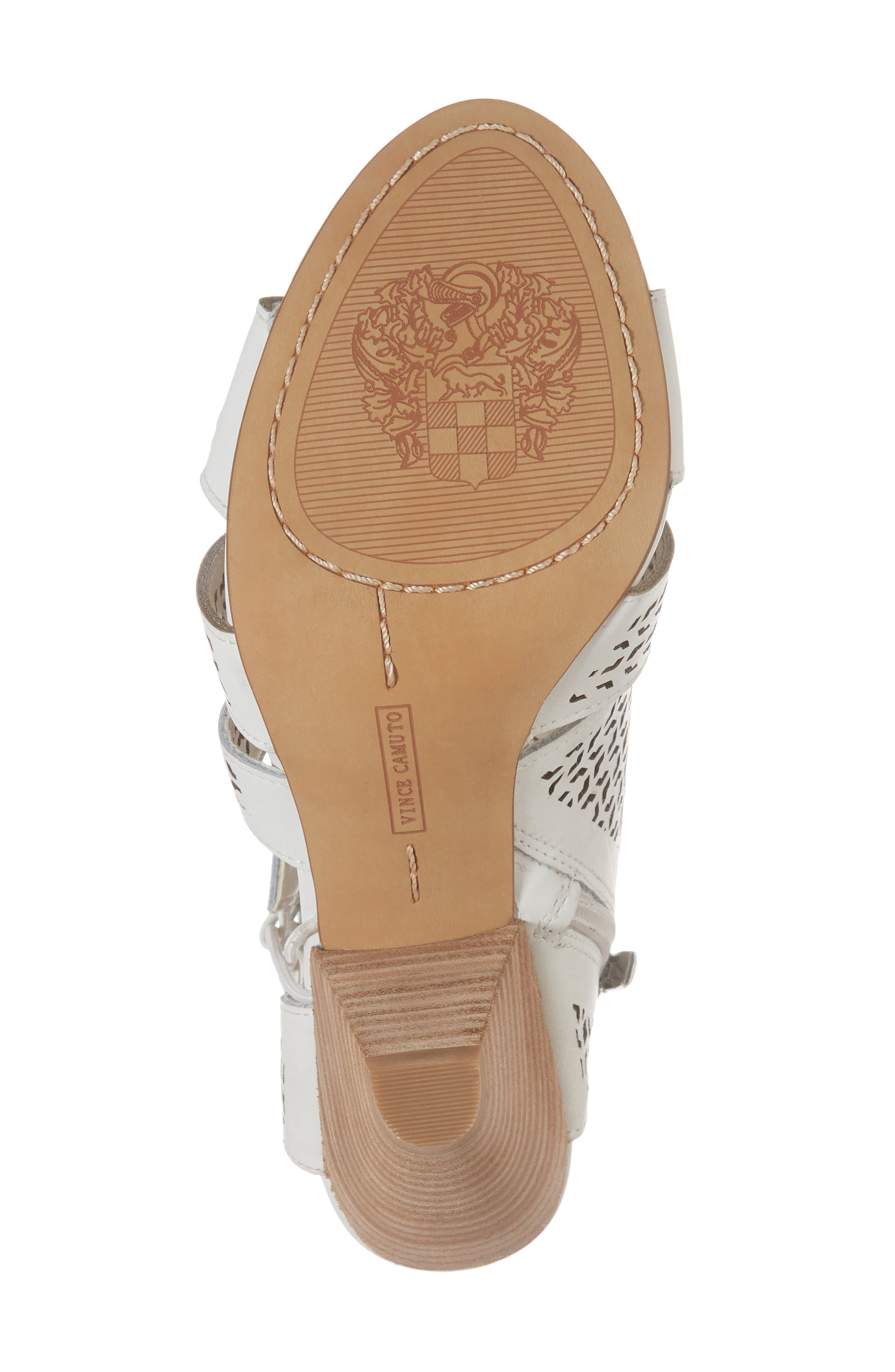 Esten Perforated Sandal,                             Alternate thumbnail 6, color,                             Pure Leather