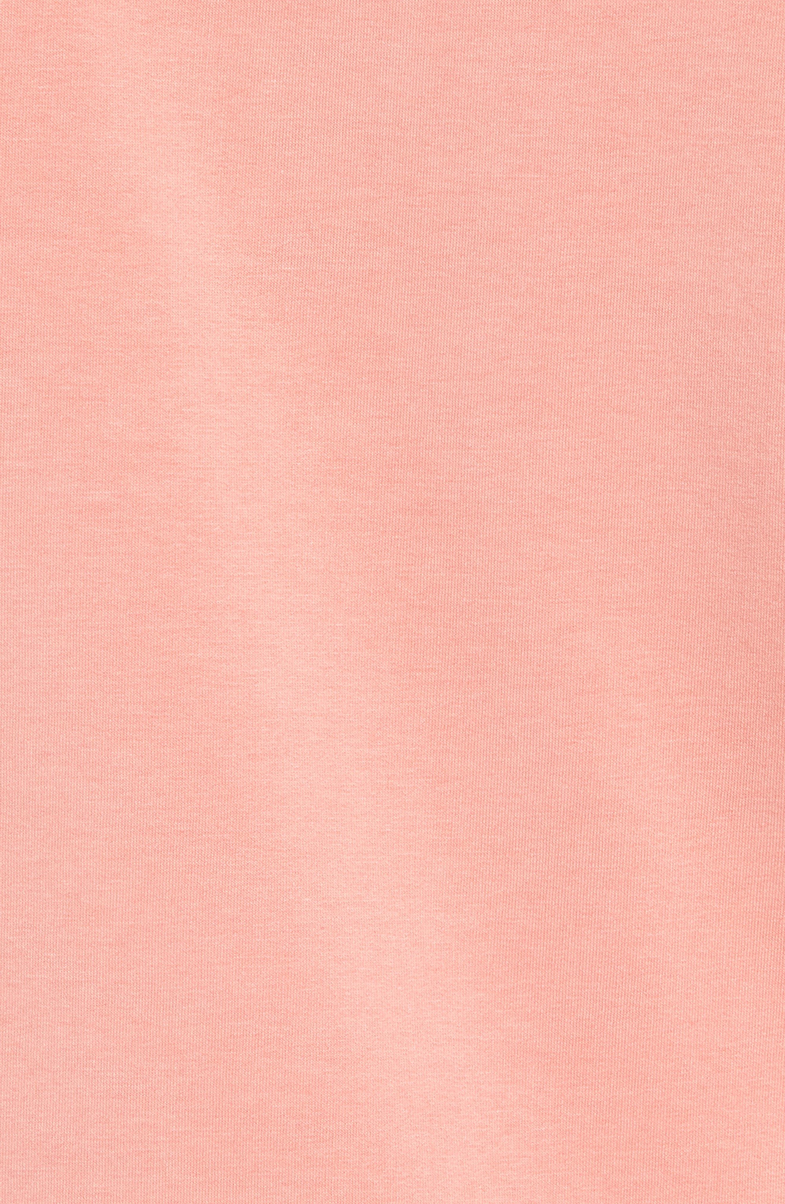 Quarter Zip Fleece Pullover,                             Alternate thumbnail 5, color,                             Coral