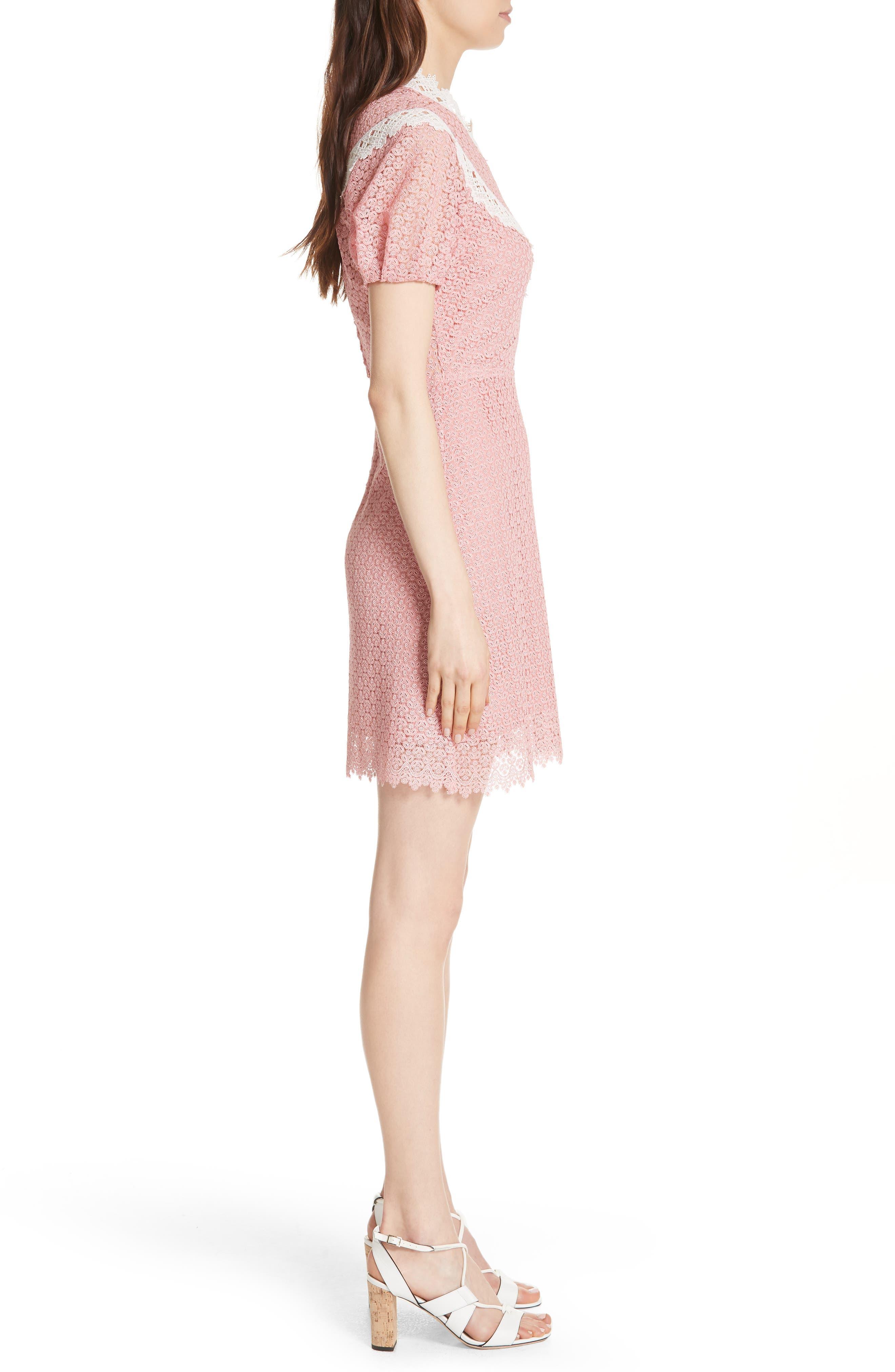 Lace Dress,                             Alternate thumbnail 3, color,                             Peony