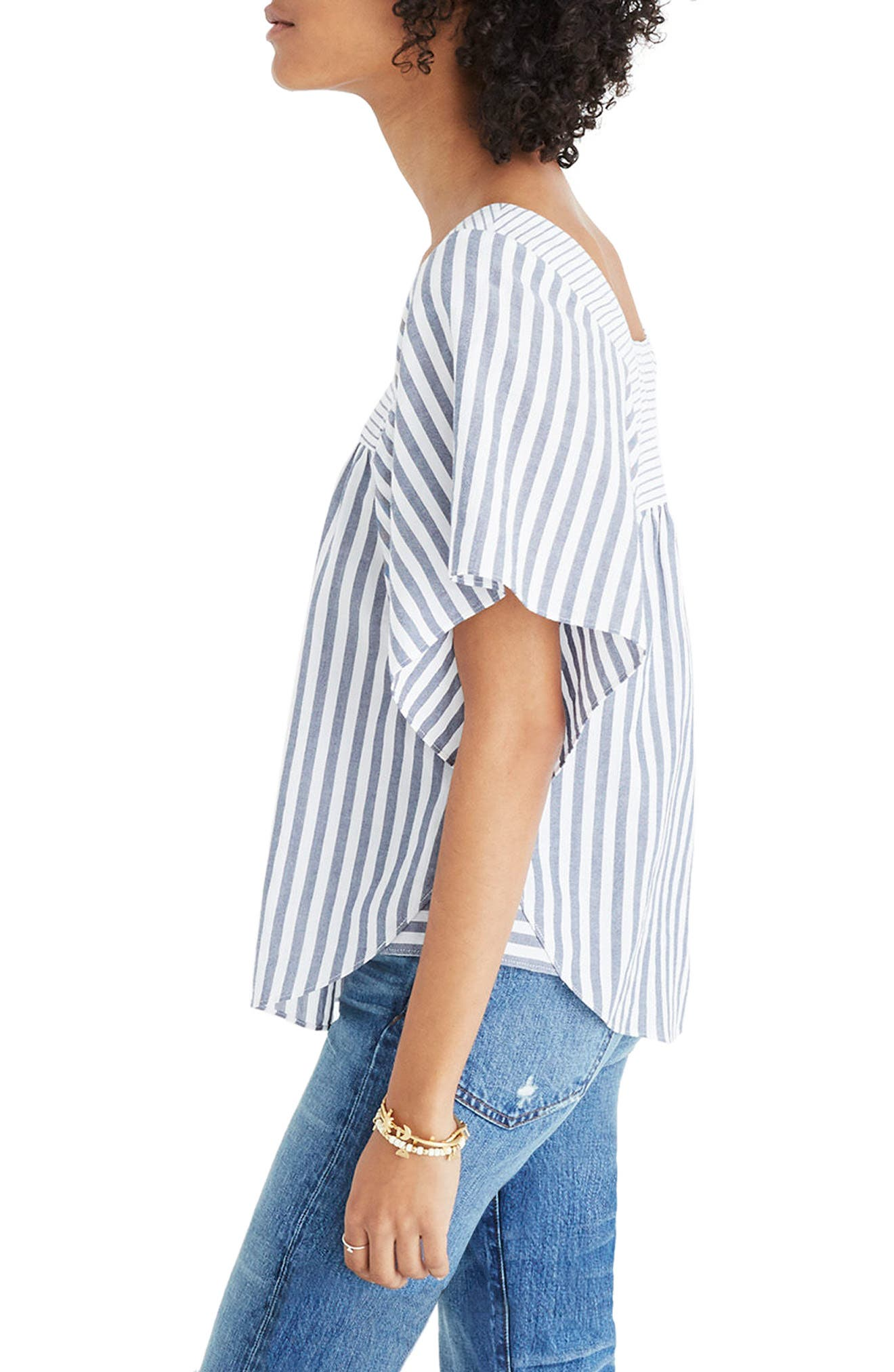 Alternate Image 3  - Madewell Stripe Butterfly Top