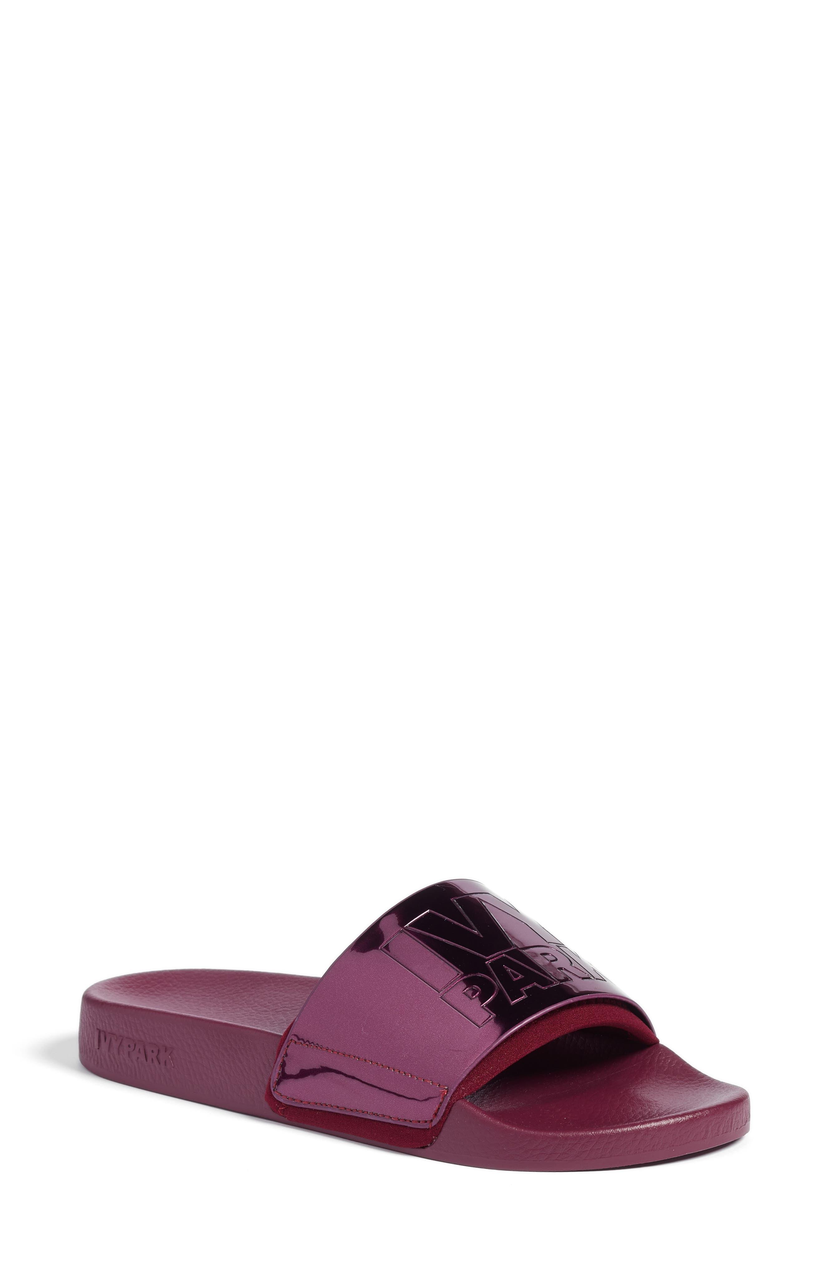 Slide Sandal,                             Main thumbnail 1, color,                             Plum