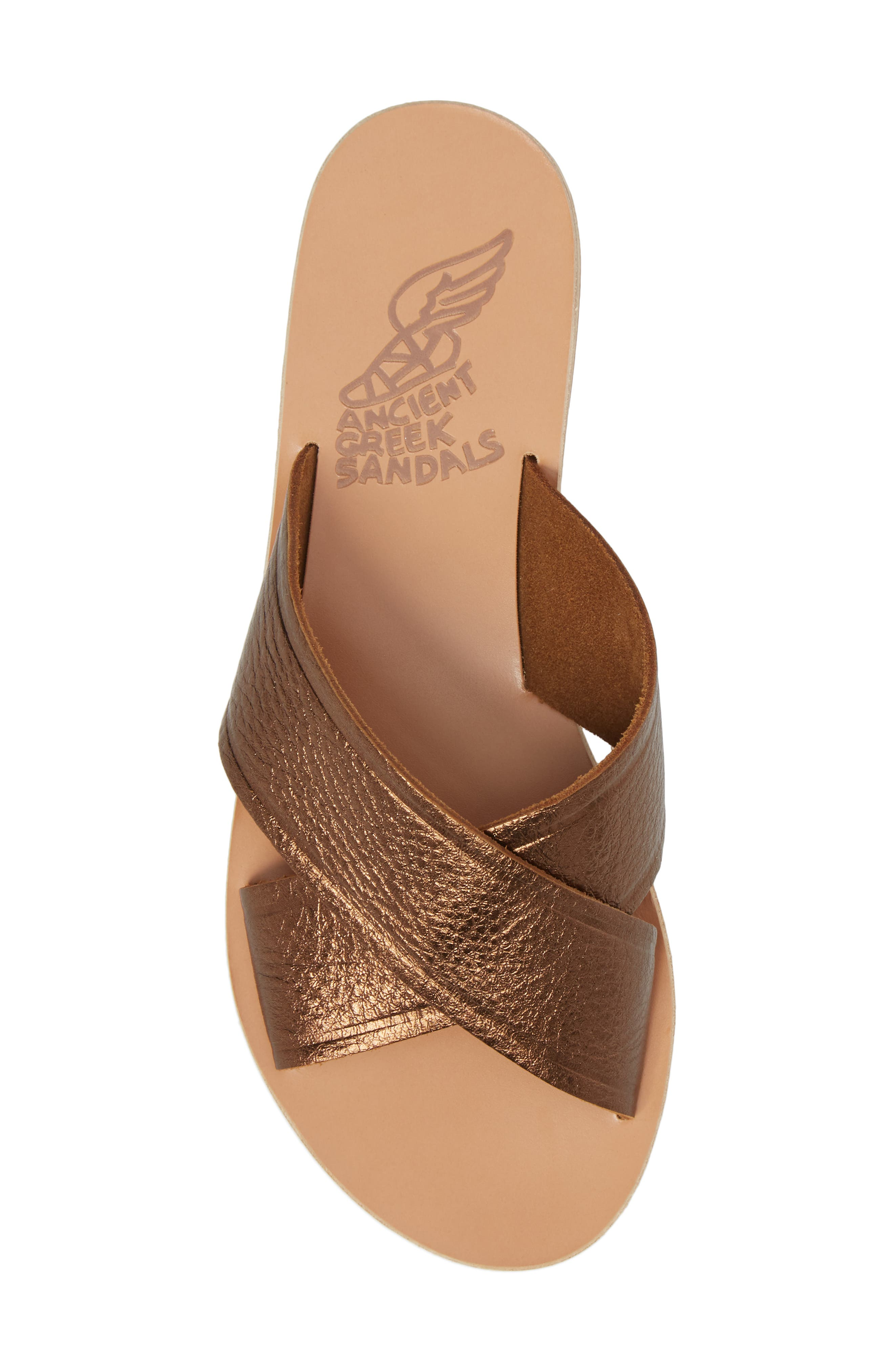 Thais Slide Sandal,                             Alternate thumbnail 5, color,                             Bronze/ Coco