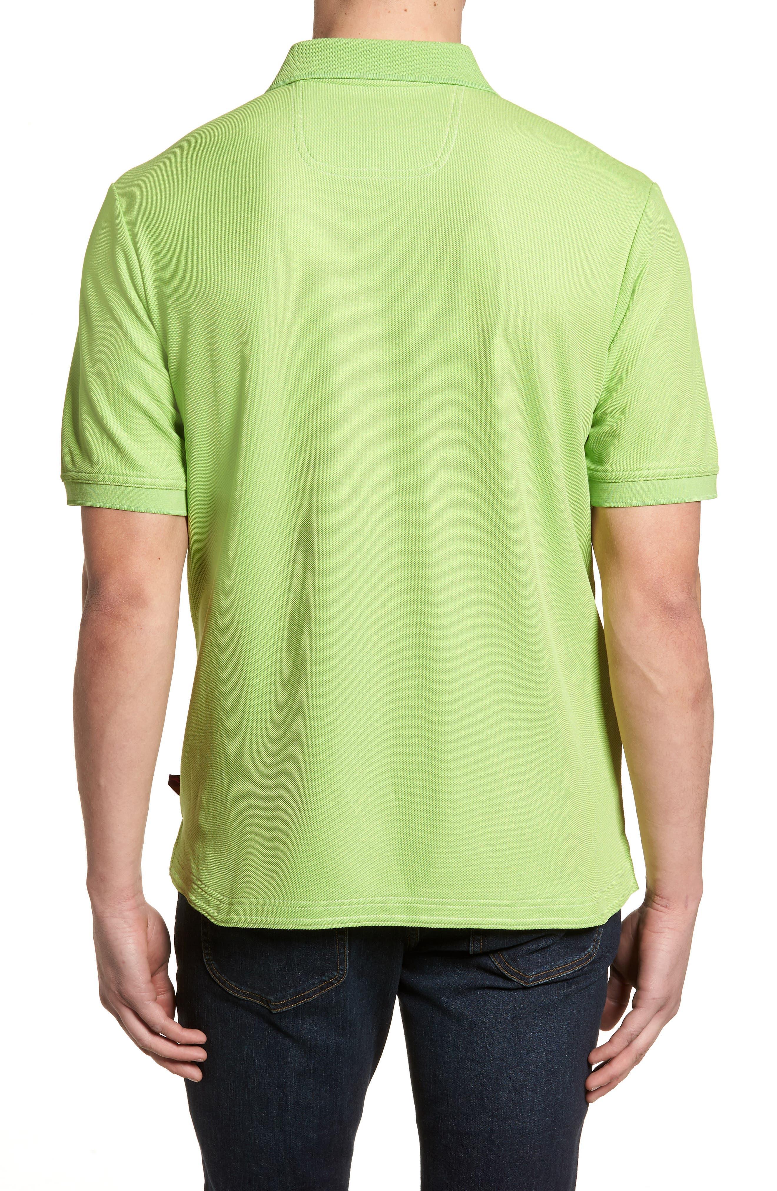 'The Emfielder' Original Fit Piqué Polo,                             Alternate thumbnail 2, color,                             Caicos Green