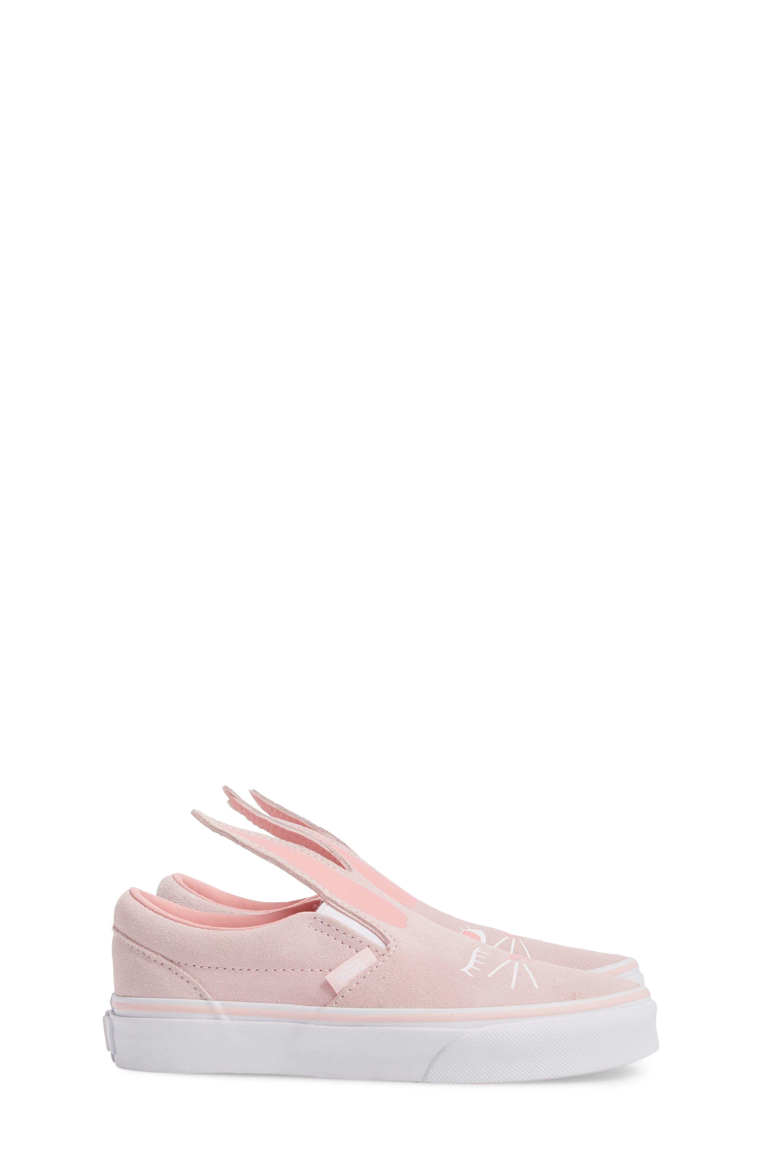 Slip-On Bunny Sneaker,                             Alternate thumbnail 4, color,                             Chalk Pink/ True White