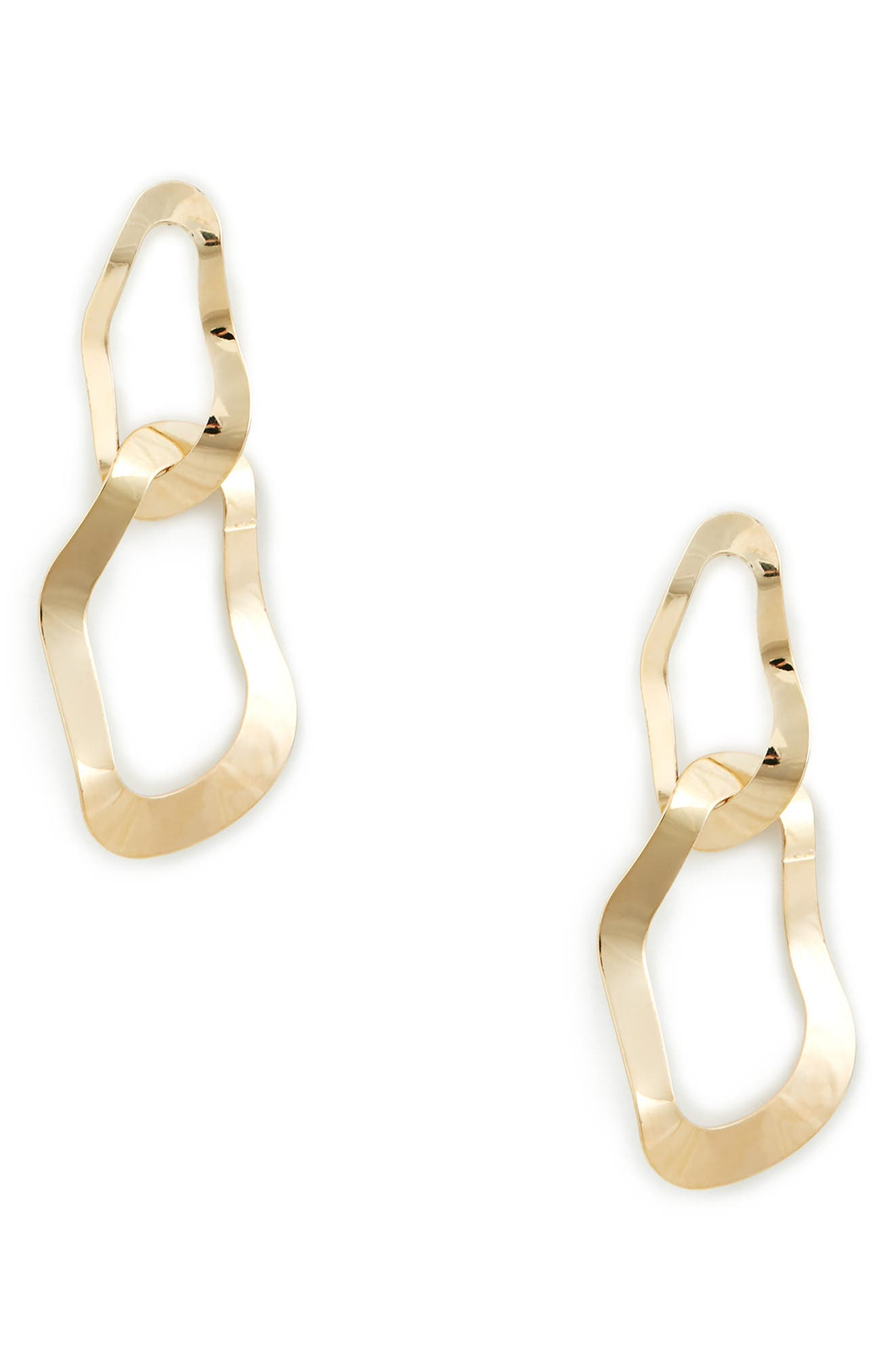 Twisted Metal Statement Earrings,                         Main,                         color, Gold