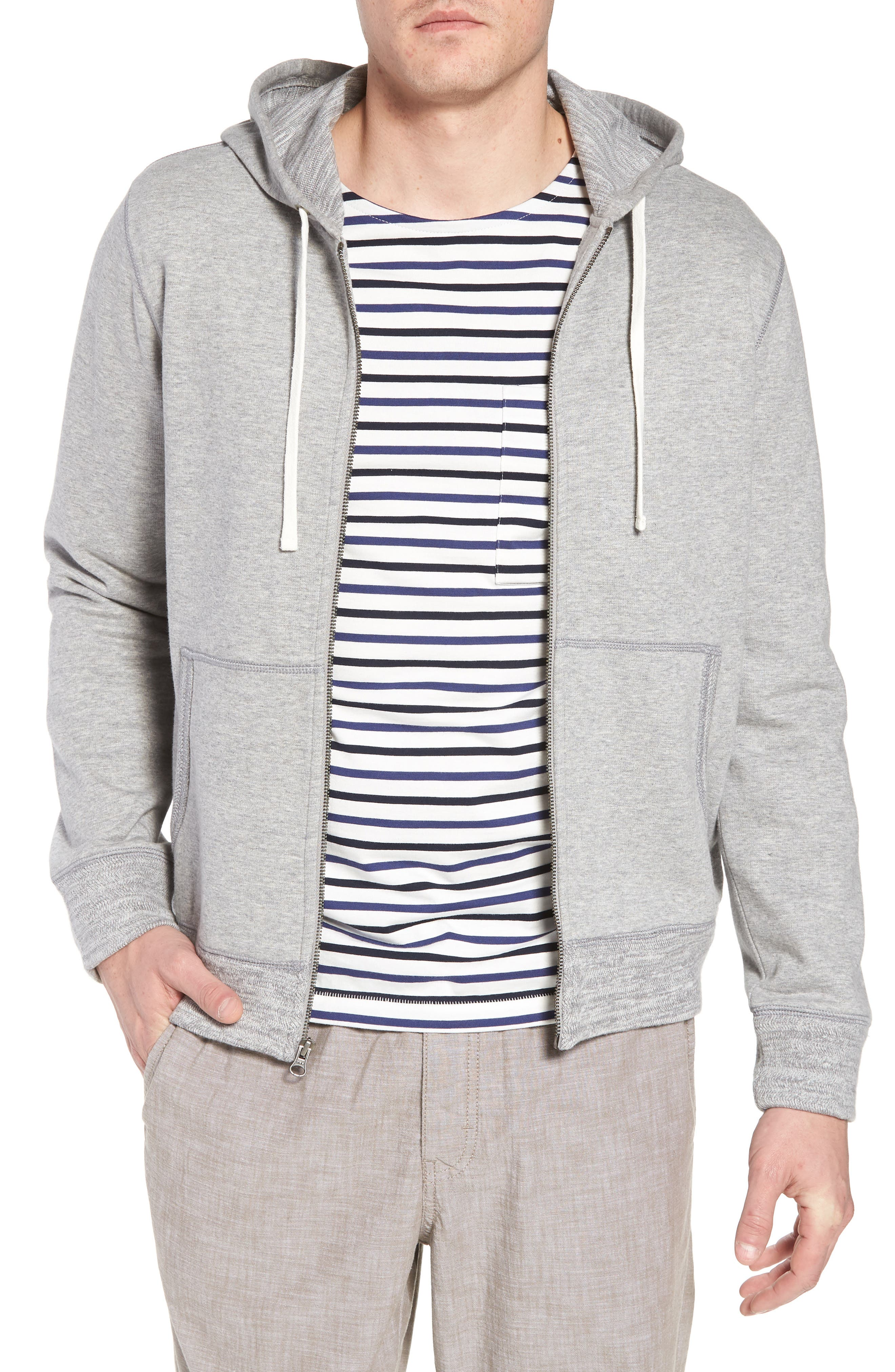 Space Dyed Zip Hoodie,                             Main thumbnail 1, color,                             Grey Weather Heather