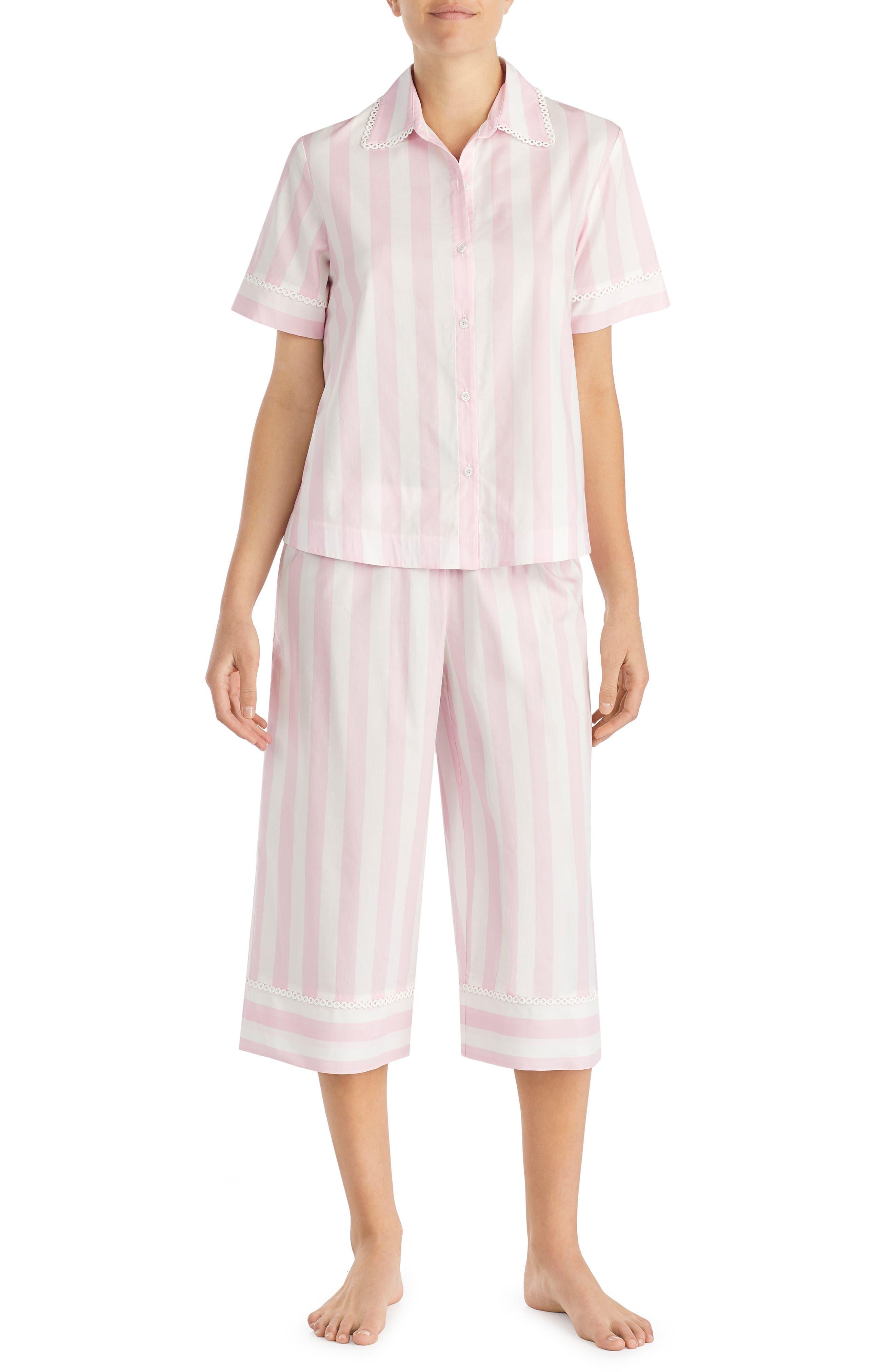 capri pajamas,                             Main thumbnail 1, color,                             Bay Stripe