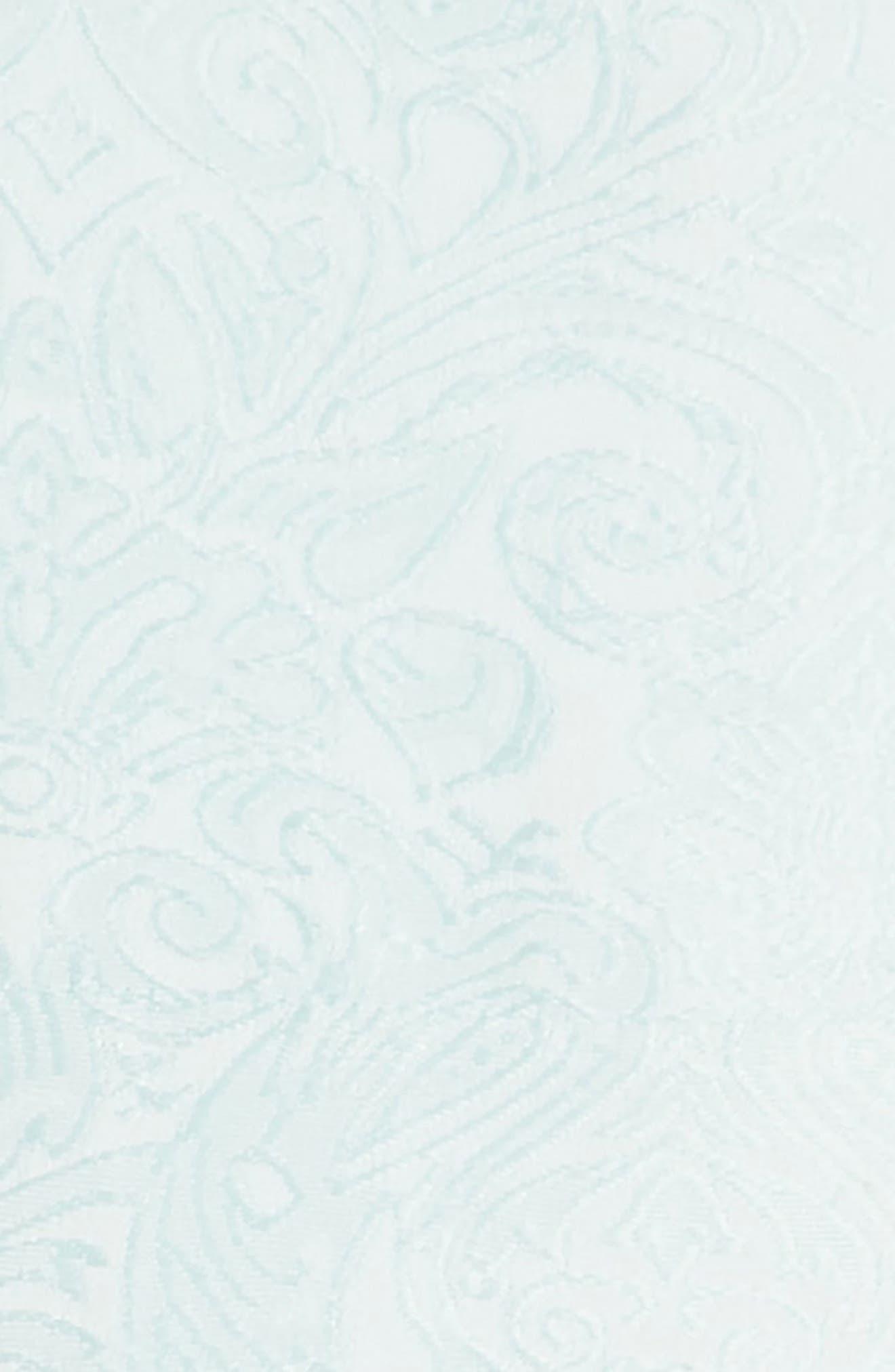Megan Jacquard Dress,                             Alternate thumbnail 3, color,                             Aqua