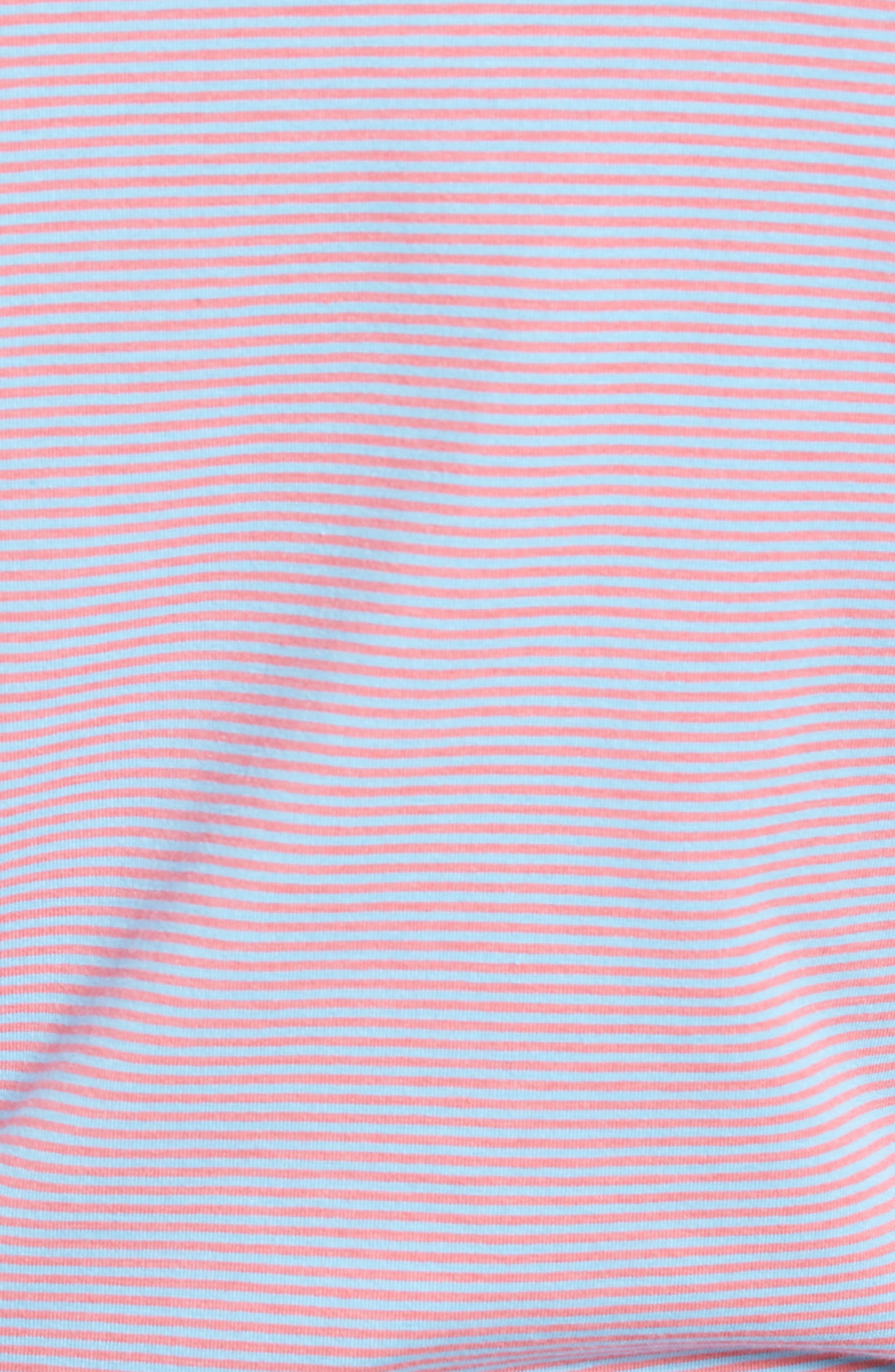 Edgartown Stripe Stretch Polo,                             Alternate thumbnail 5, color,                             Jetty Red