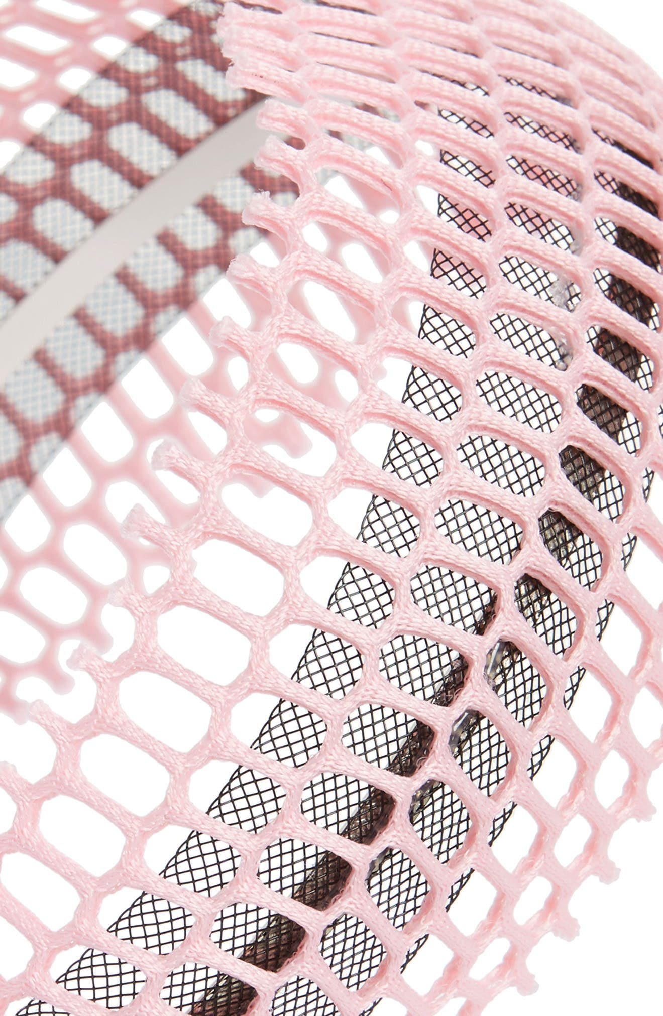 Fishnet Headband,                             Alternate thumbnail 2, color,                             Pink