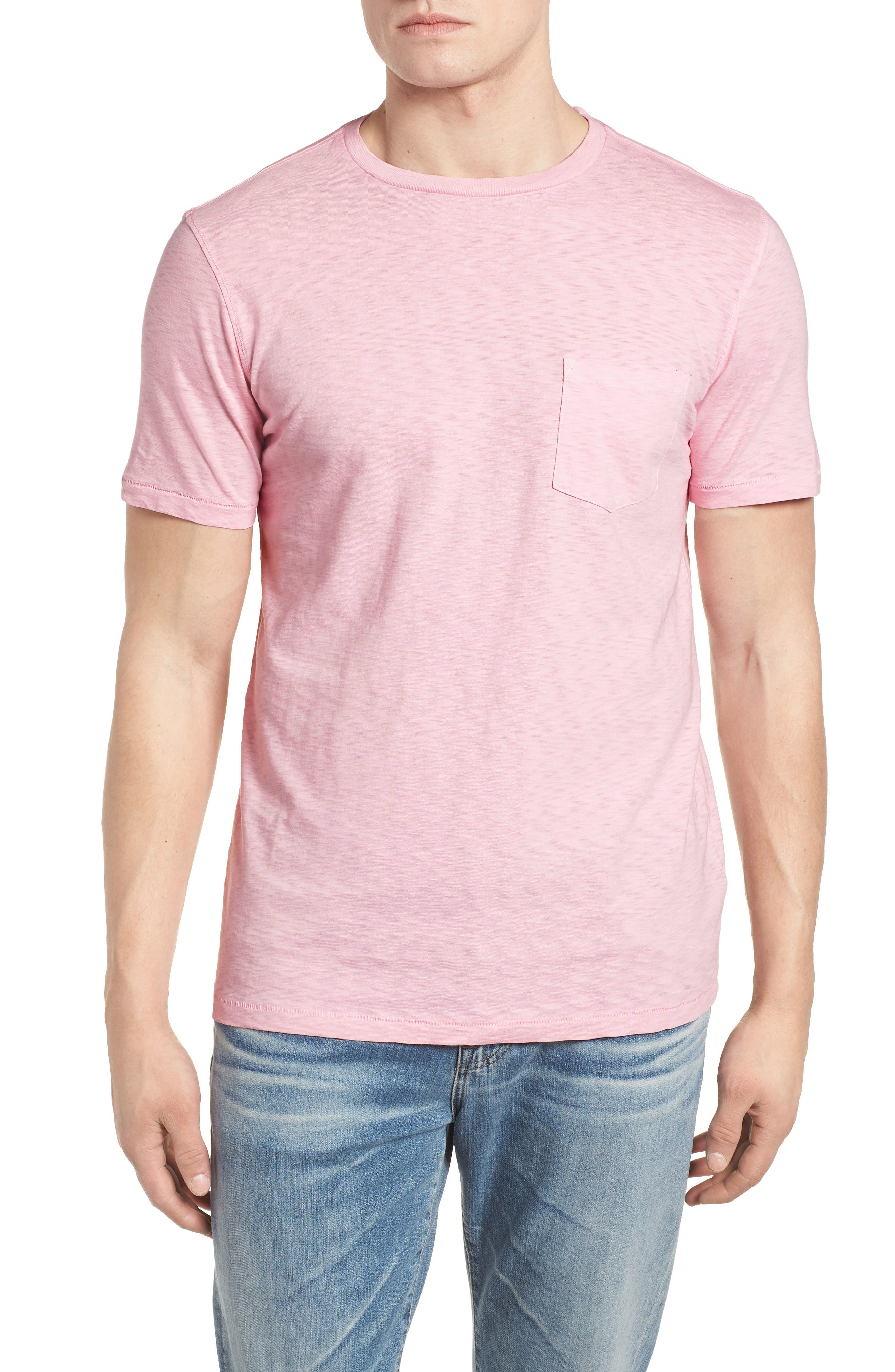 Slub Knit T-Shirt,                             Main thumbnail 1, color,                             Pink