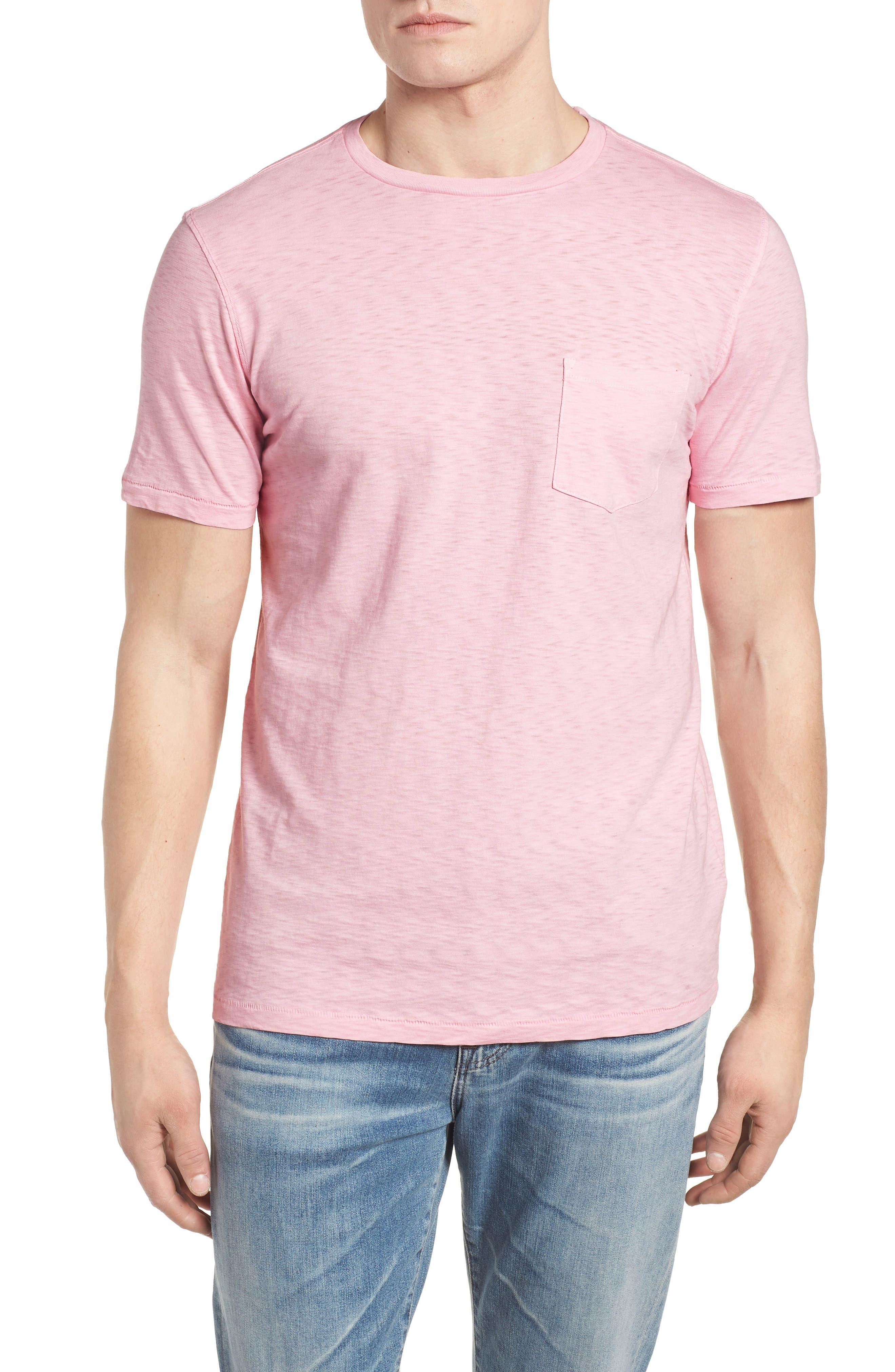 Slub Knit T-Shirt,                         Main,                         color, Pink