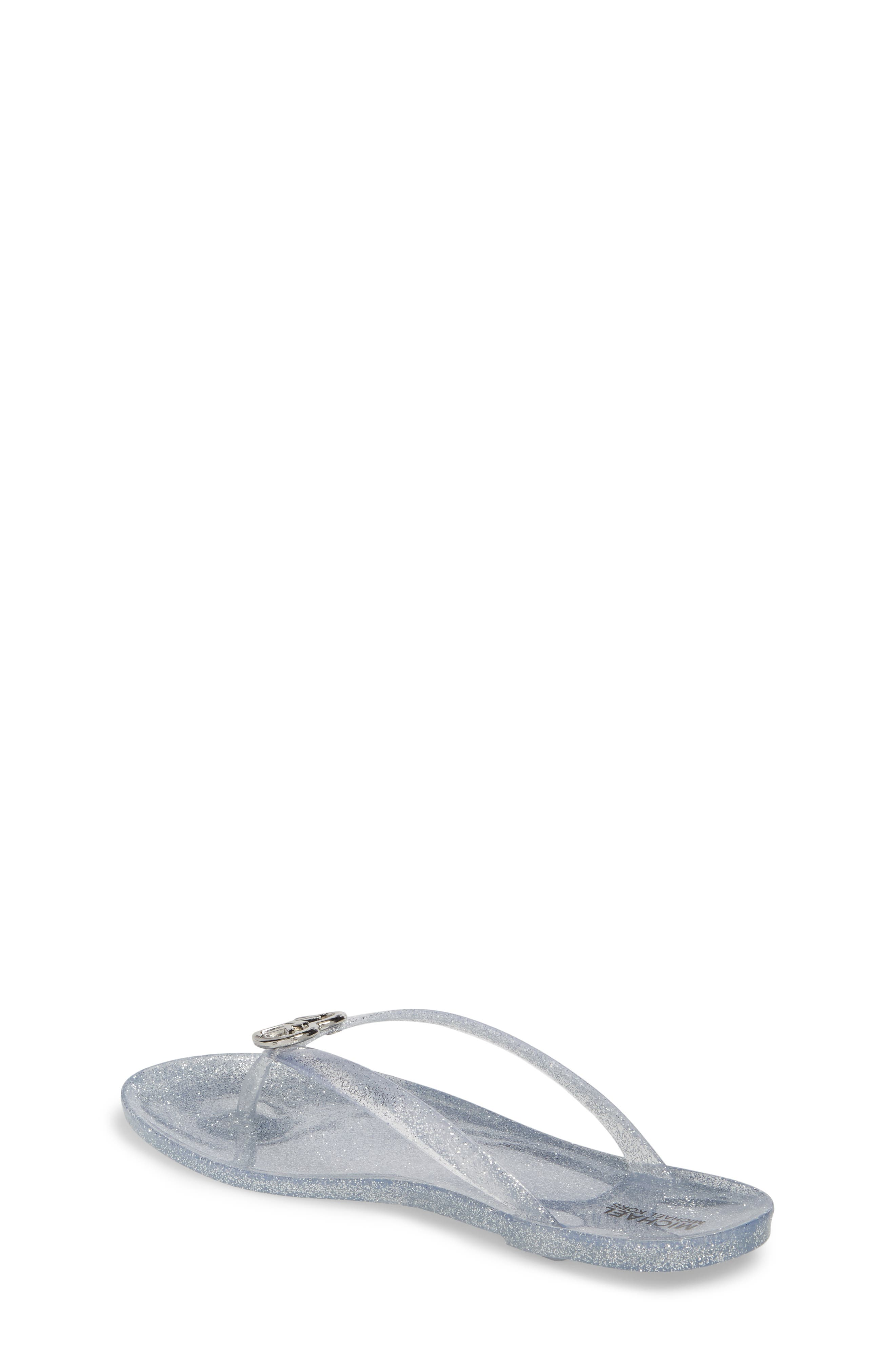 Trish Glare Glitter Flip Flop,                             Alternate thumbnail 2, color,                             Silver Glitter
